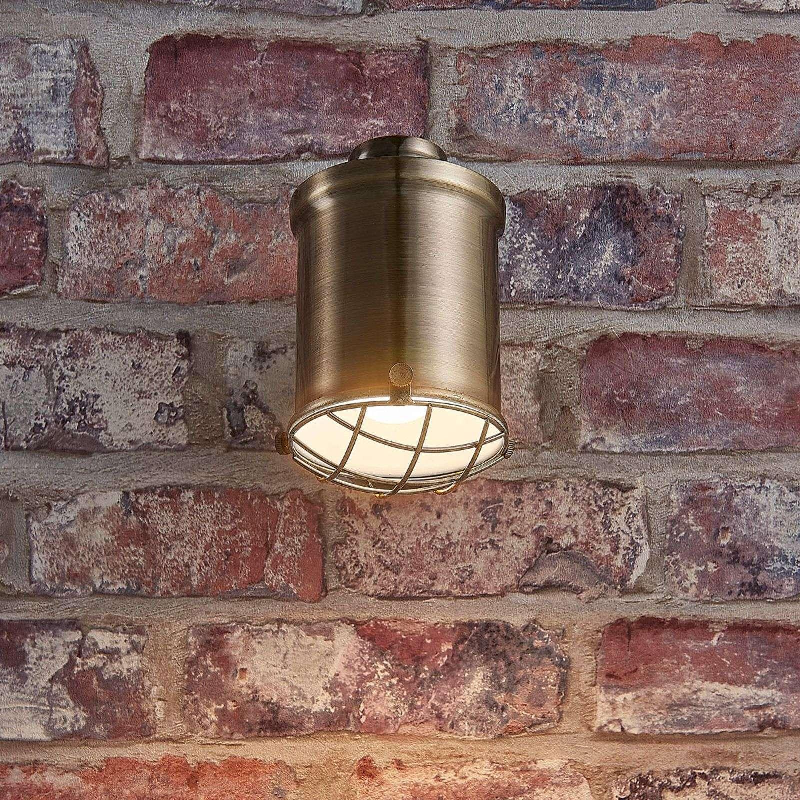 Himmennys-LED-seinävalaisin Ebbi, vanhamessinki-9621228-02