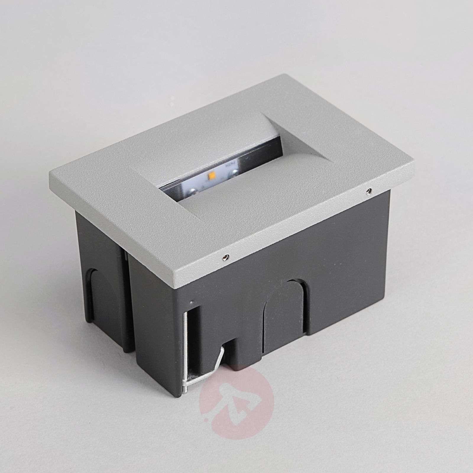 Hopeanharmaa LED-upotettava seinävalaisin Nevin-9616073-03