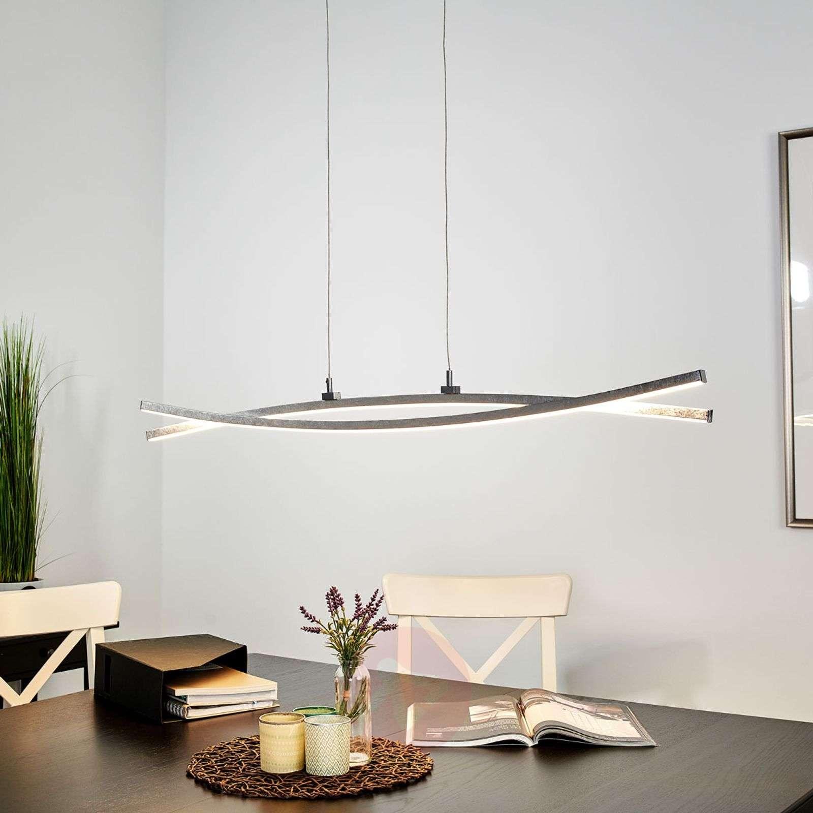 Hopeanvärinen, hento Florentina-LED-riippuvalaisin-9994117-02