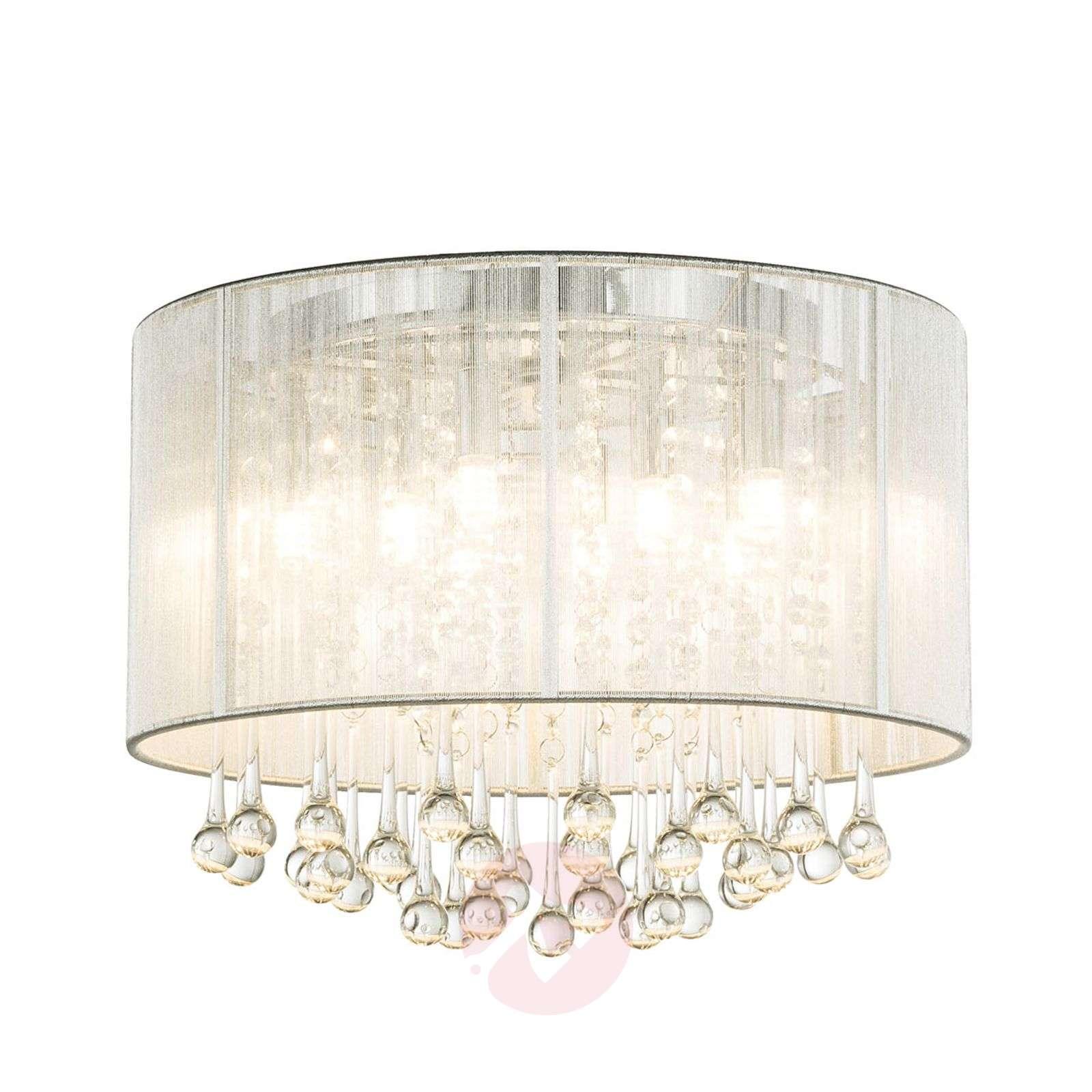 Hopeinen LED-kattovalaisin Sierra riipuksilla-4015030-01