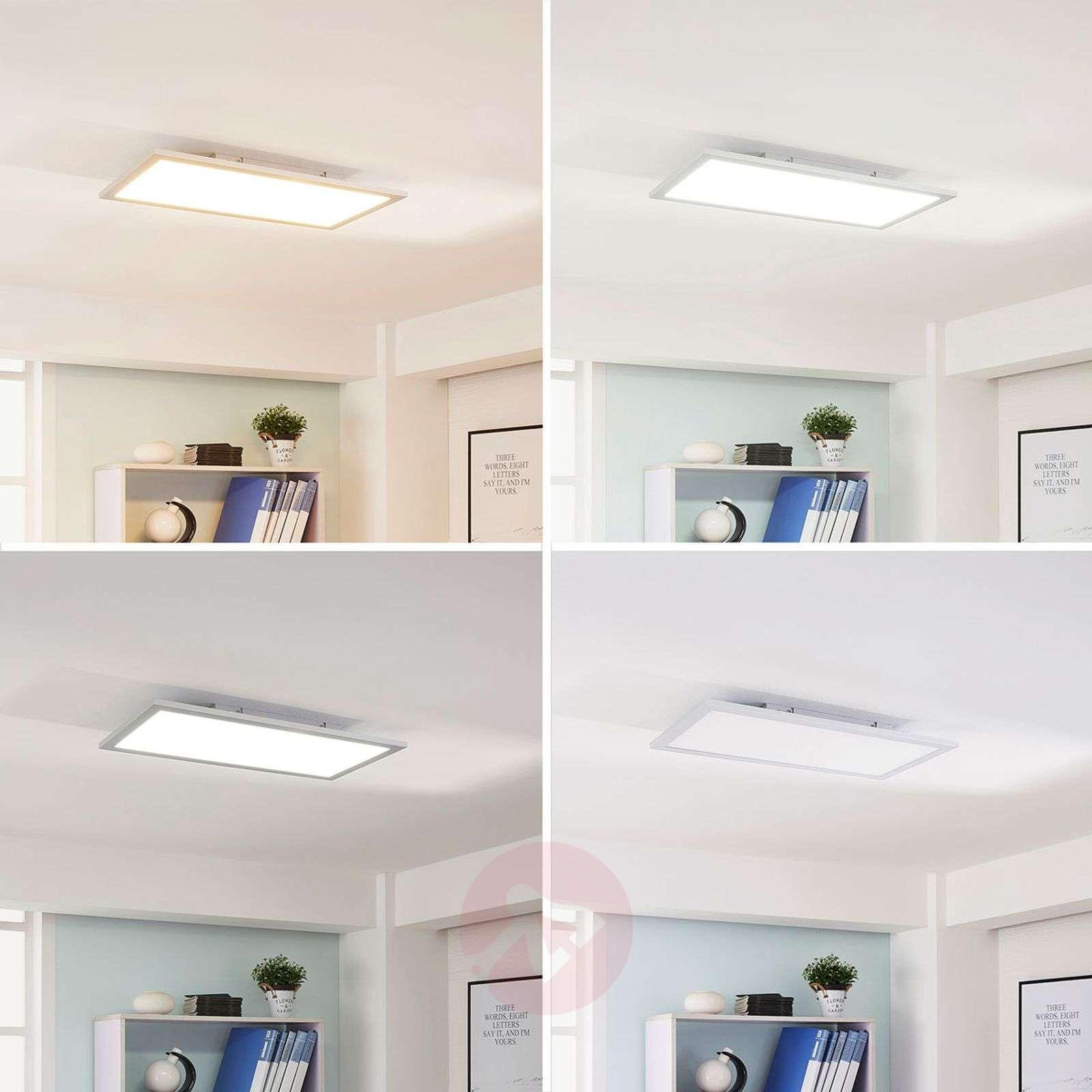 Hopeinen LED-paneeli Lysander, säädettävä väri-9621549-01