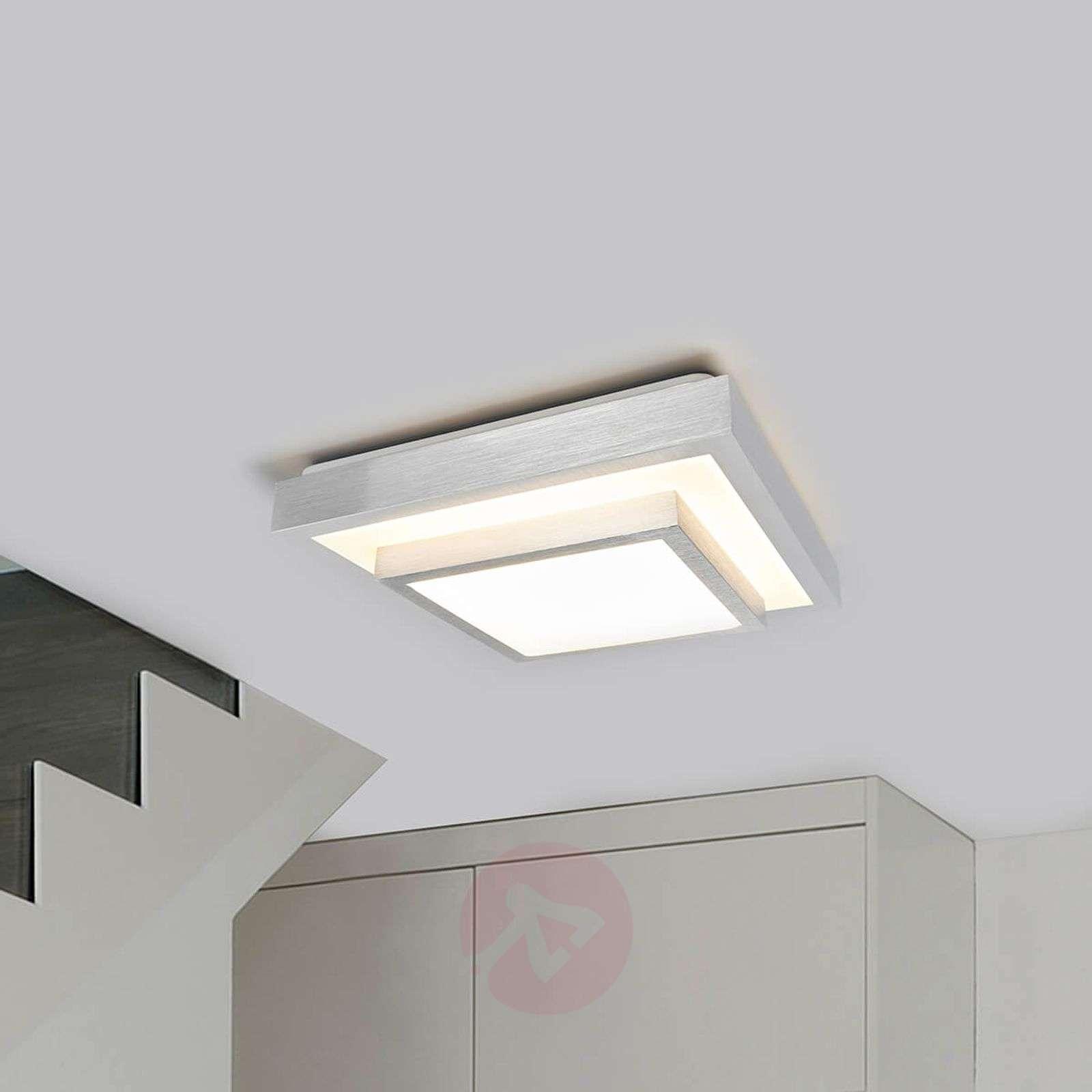 Huberta – LED-kattolampussa alumiininvärinen kehys-9974015-01