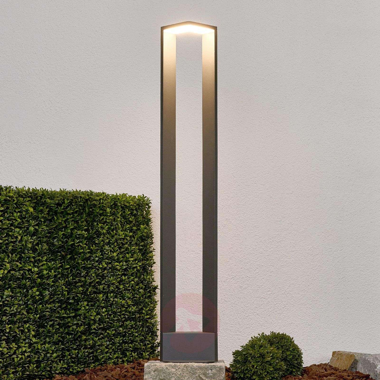 Huippumoderni tummanharmaa Jeny-LED-pylväsvalaisin-9619083-01