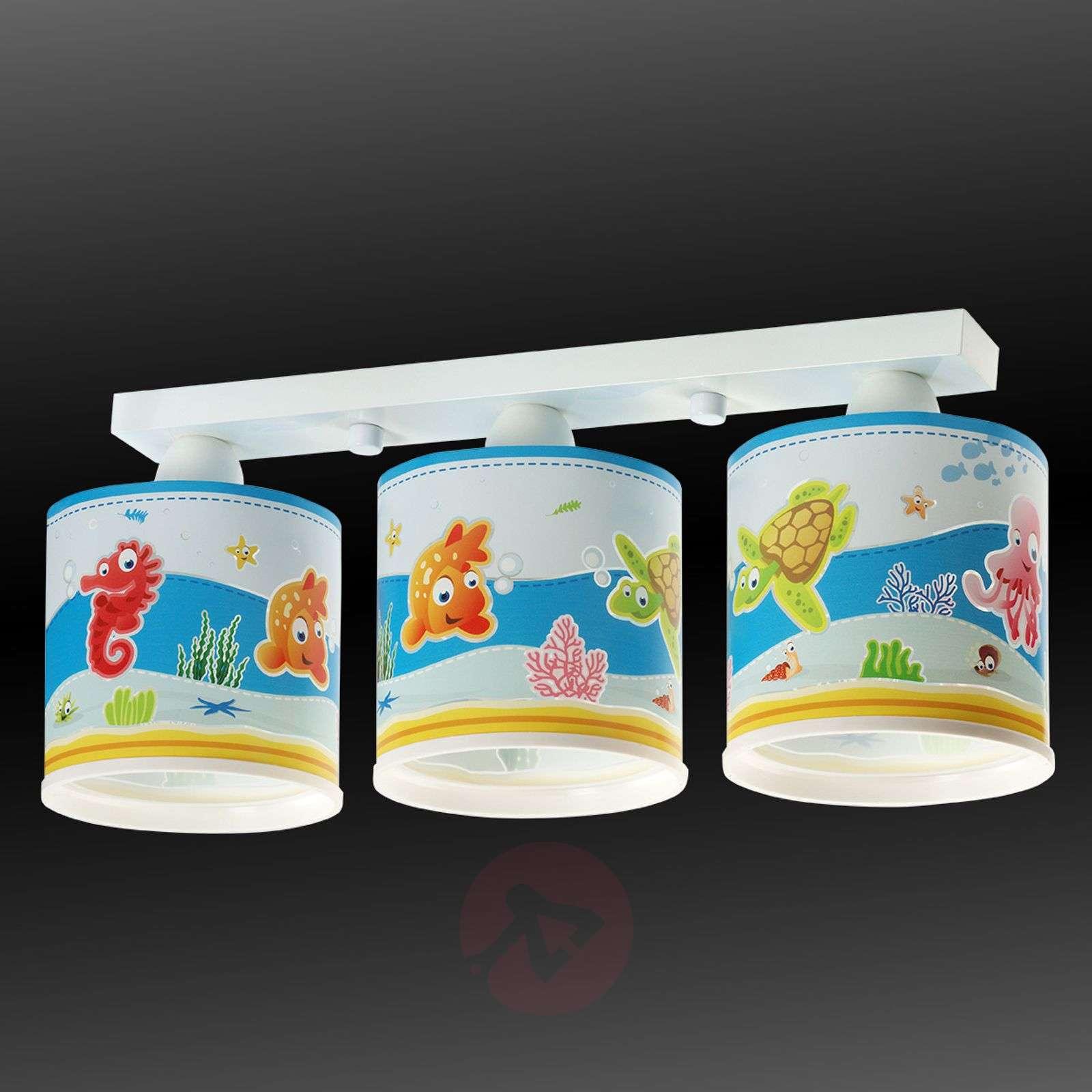 Ihastuttava kattovalaisin Aquarium, 3-lamppuinen-2507269-01