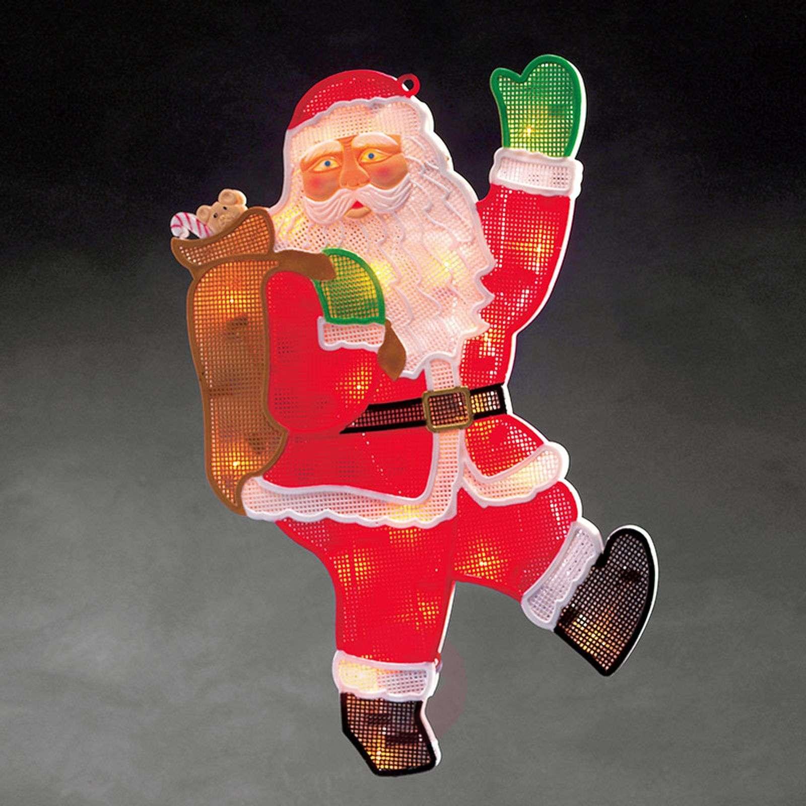 Ikkunakuva joulupukki + LED 20-lamppuinen-5524844-01