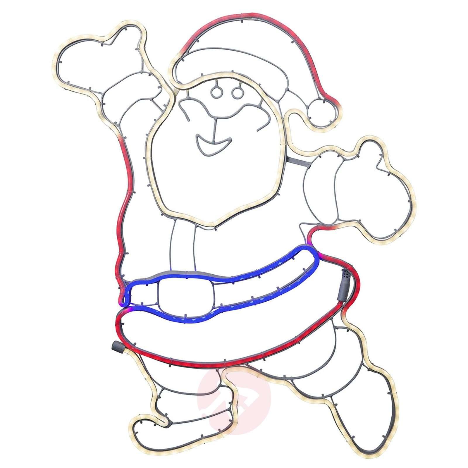 Iloinen joulupukki-figuuri NeoLED ulkokäyttöön-1523459-01