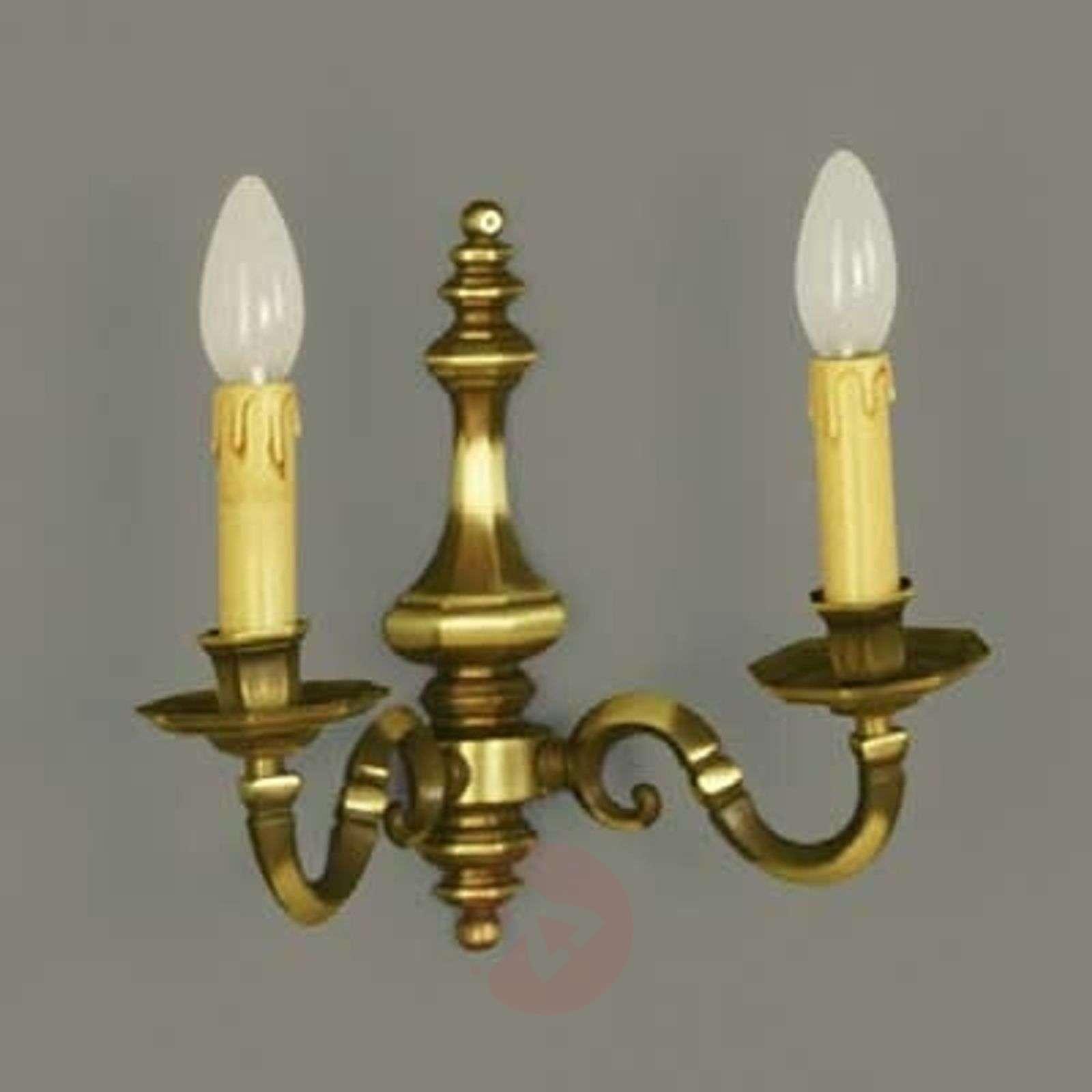 Imke-valaisin, 2-lampp., vaalea patinoitu messinki-7253275-01