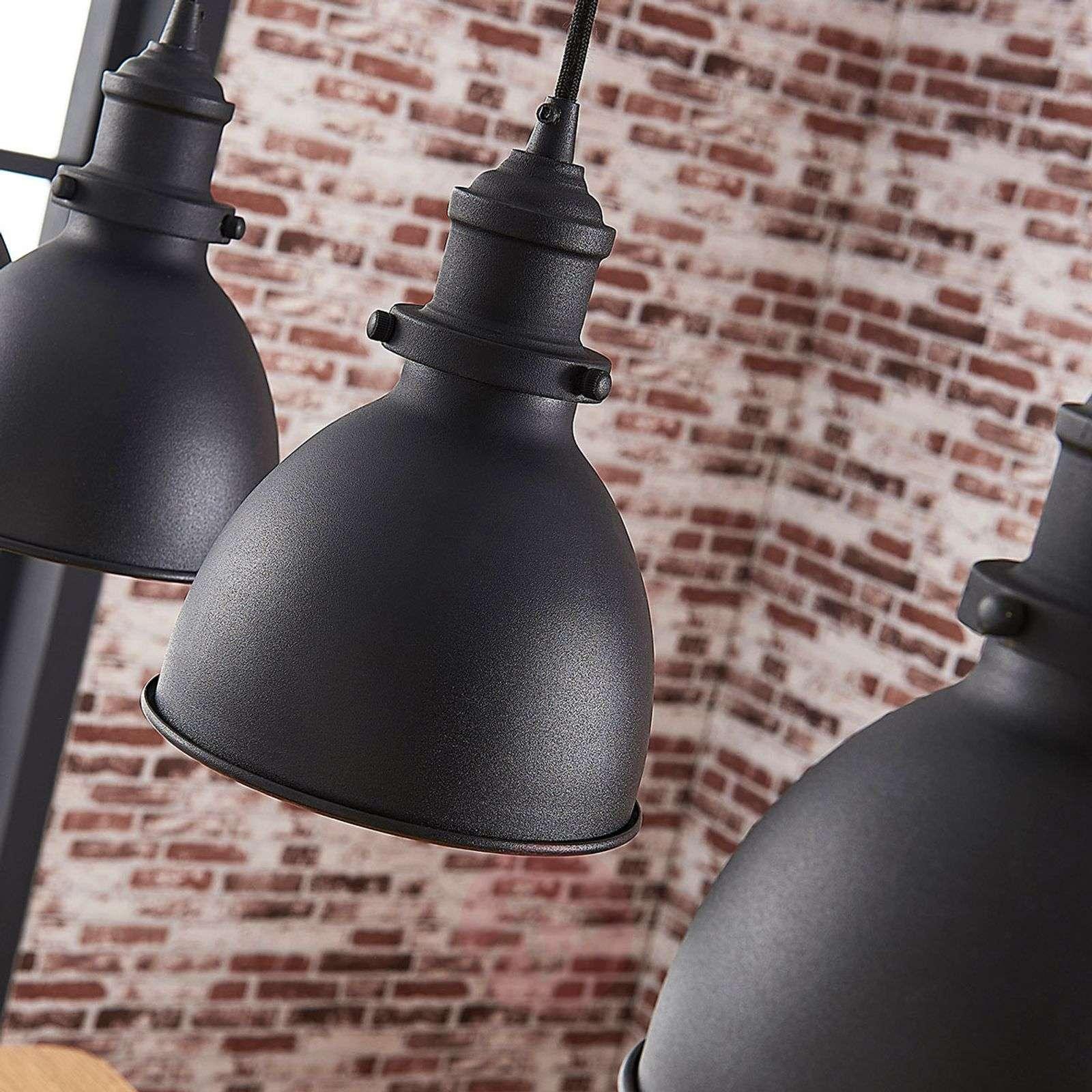Jasminka 4-lamppuinen riippuvalo, musta-kulta-9621725-01