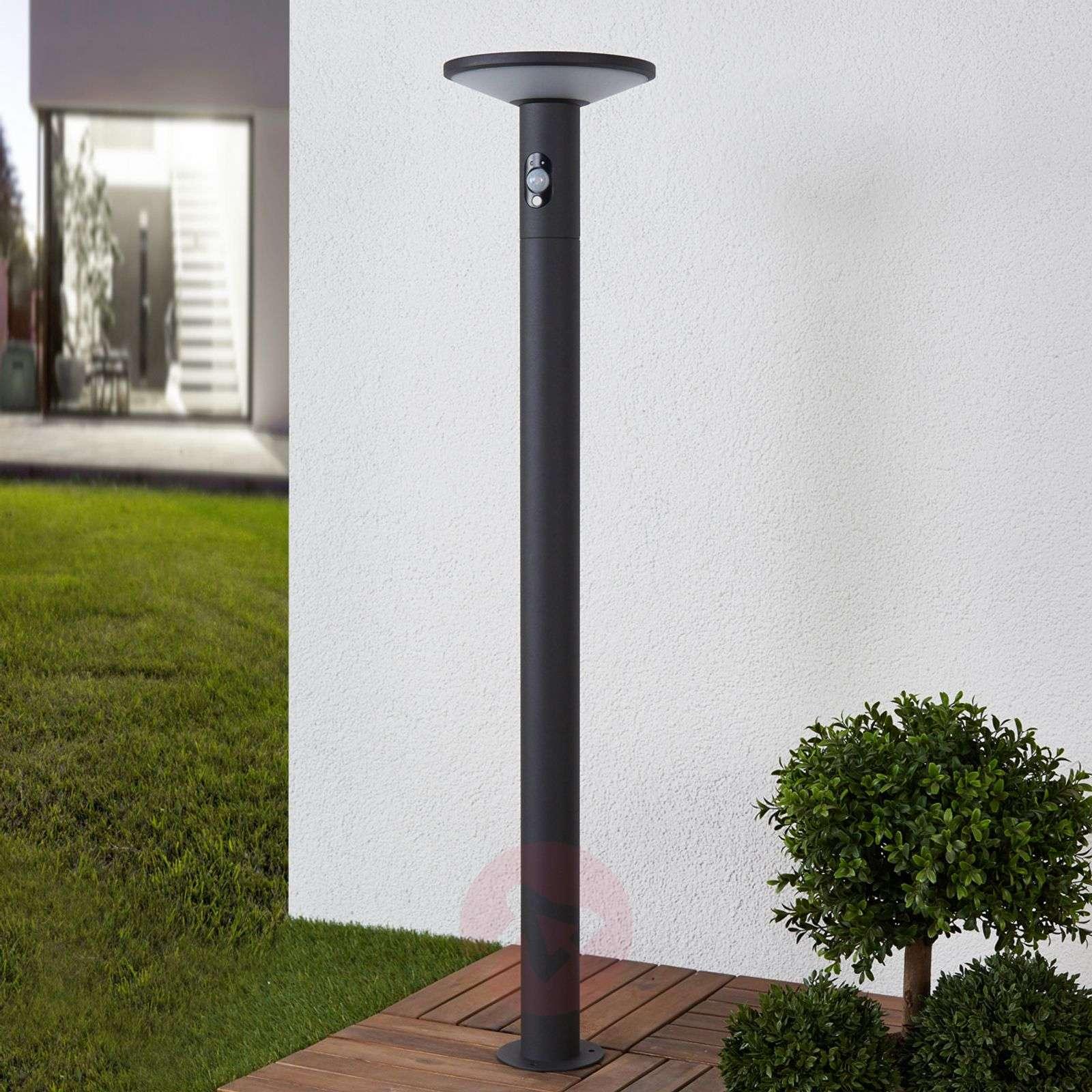 Jersy-LED-pylväsvalaisin aurinkopaneelilla, 100 cm