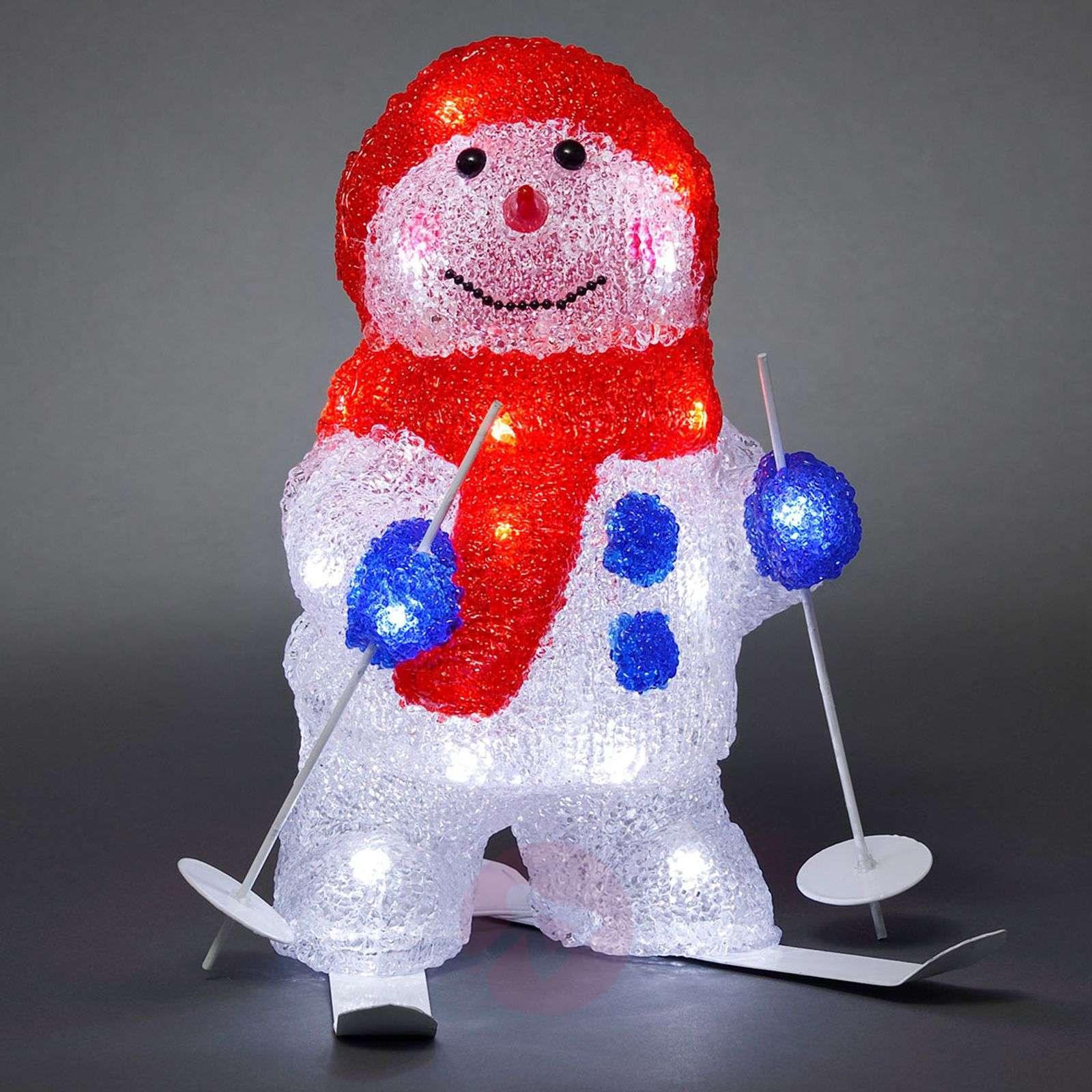 Joulupukki suksilla – LED-ulkokoristevalaisin-5524379-01