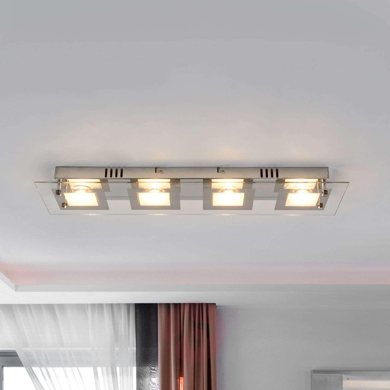 Joustava Manja LED-kattovalaisin, kromipinta-4018055-02