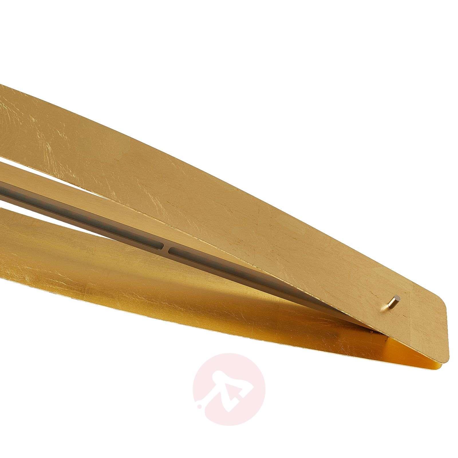 Kaareva LED-riippuvalaisin Lian, kullanvärinen-6722408-01