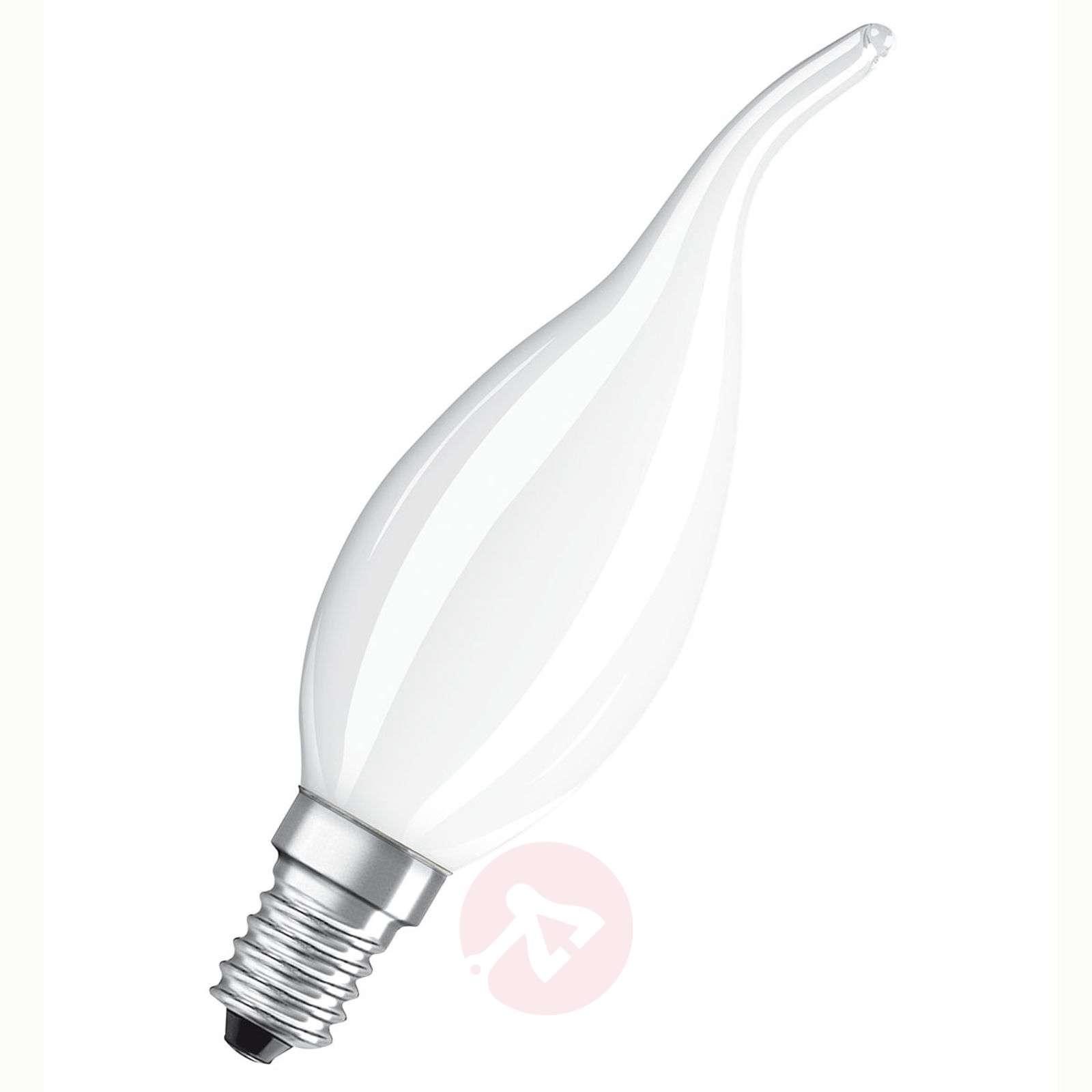 Kaartuva LED-kynttilälamppu E14 5W, lämmin valk.-7262018-04