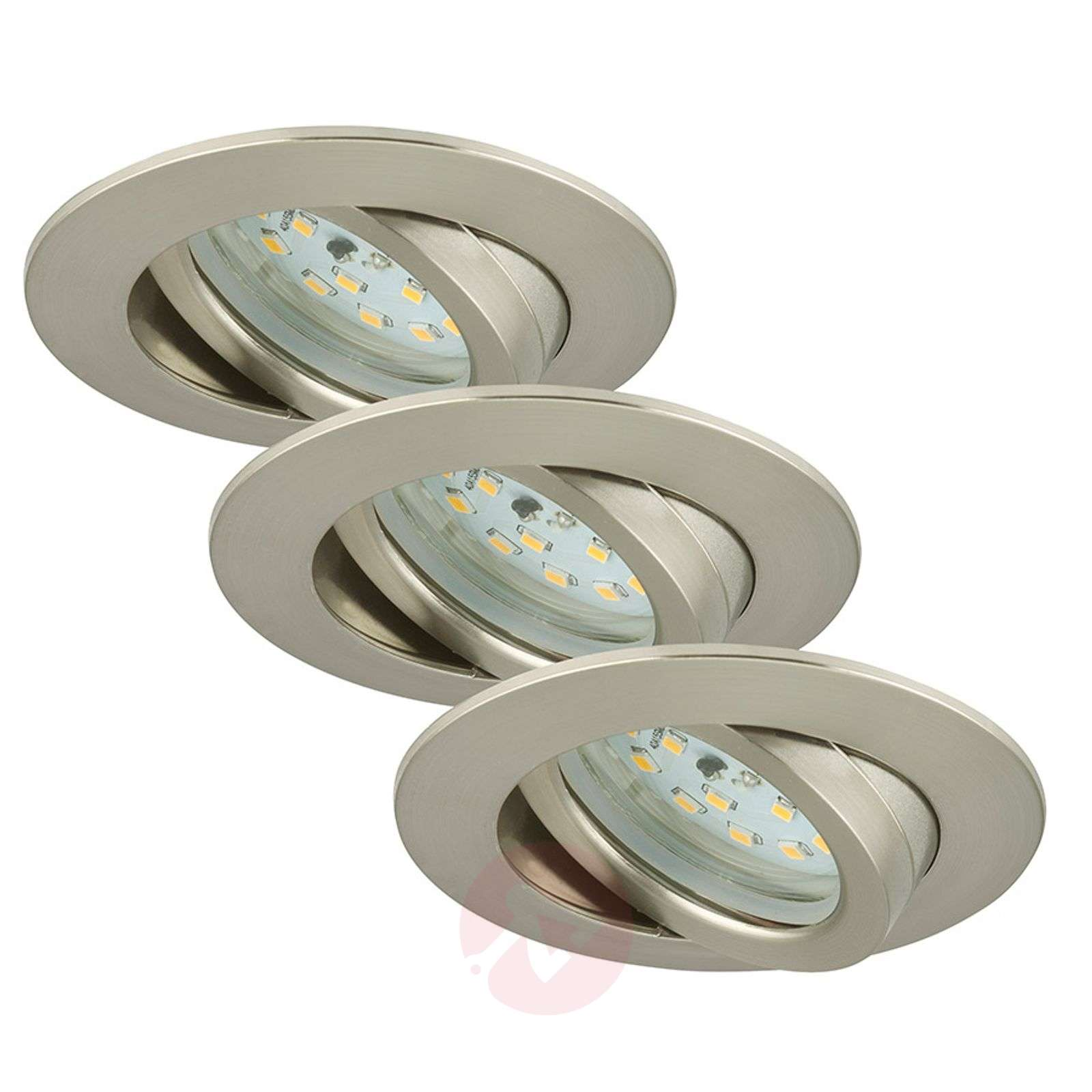 Käännettävä Bert-LED-uppovalaisin, nikkeli, 3 kpl-1510327-02