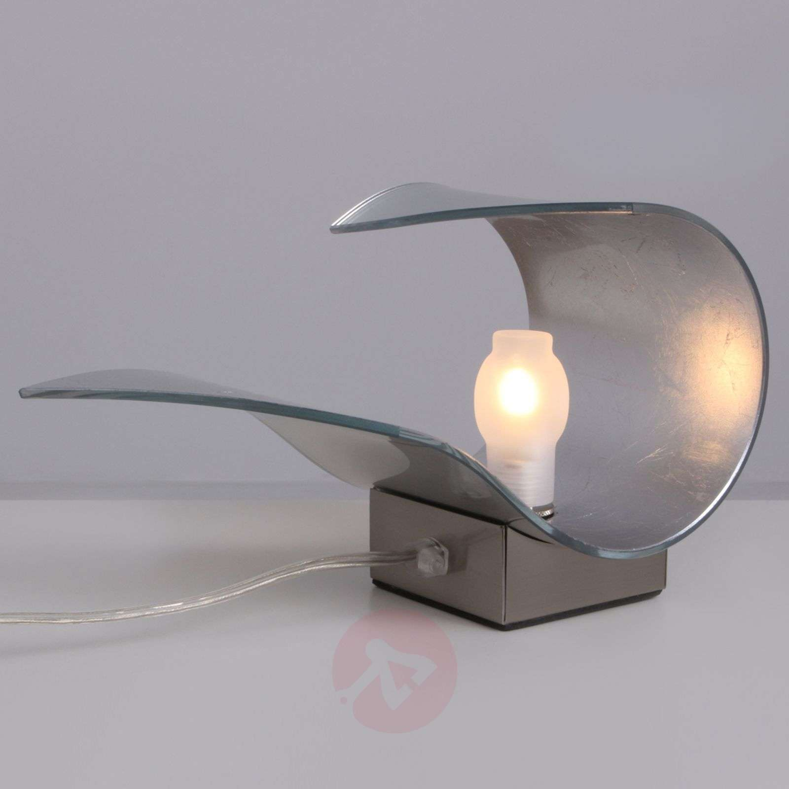 Käsintehty 24 cm hopeinen pöytälamppu Carrie 24 cm-2018021-04