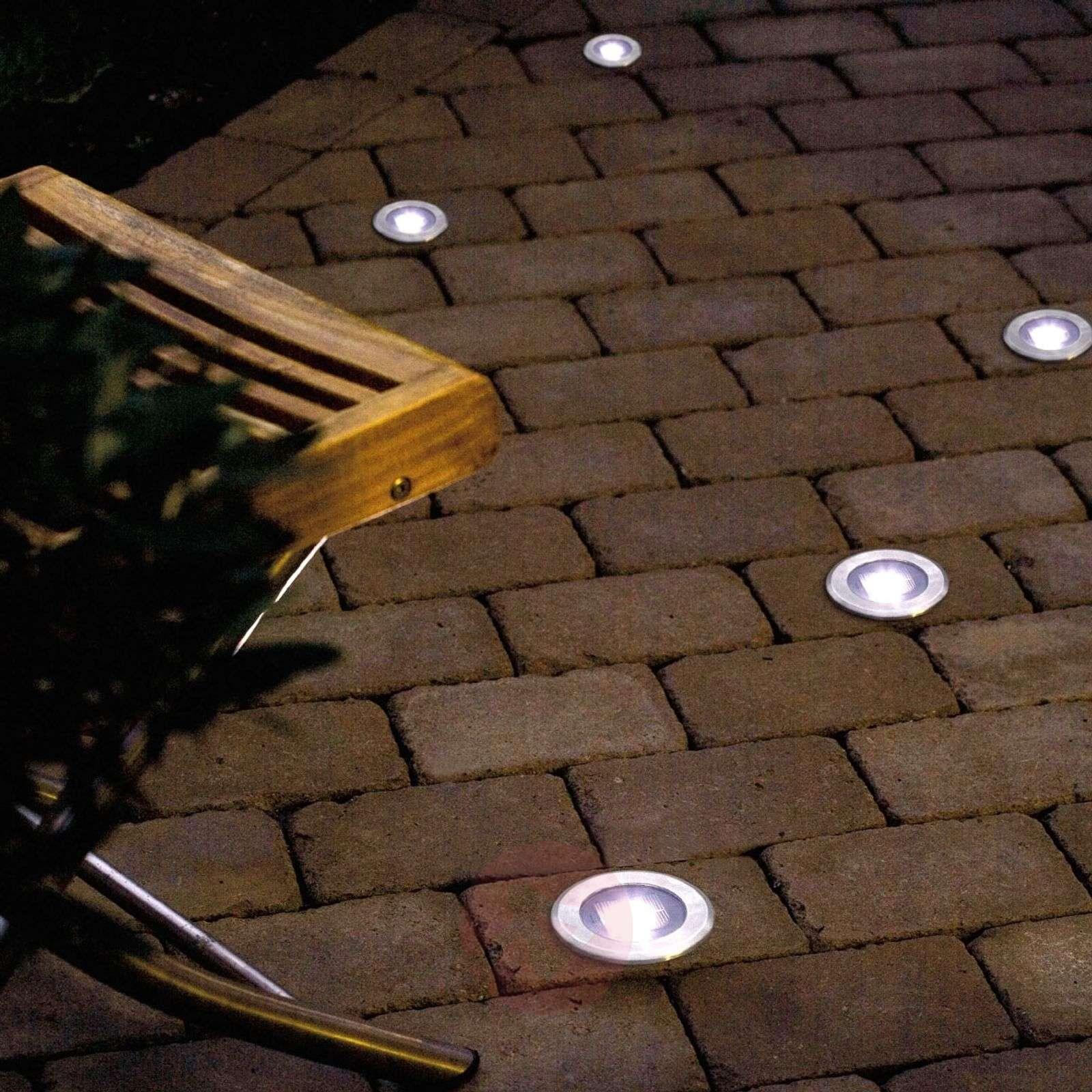 Kätevä upotettava maavalo SOLAR LIGHT LED-5522405-01