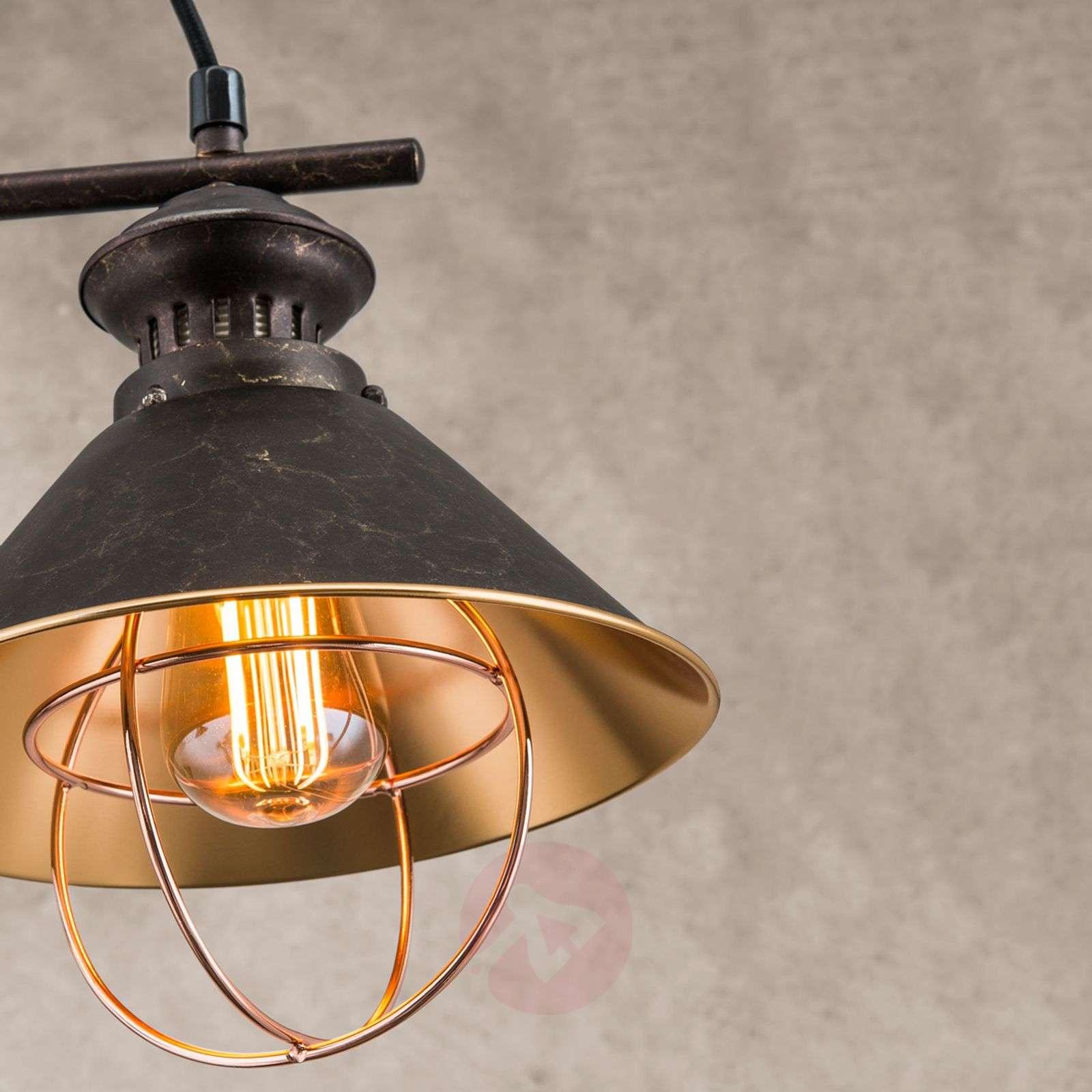 Kahden lampun Shanta-riippuvalaisin, mustakupari-7255170-07