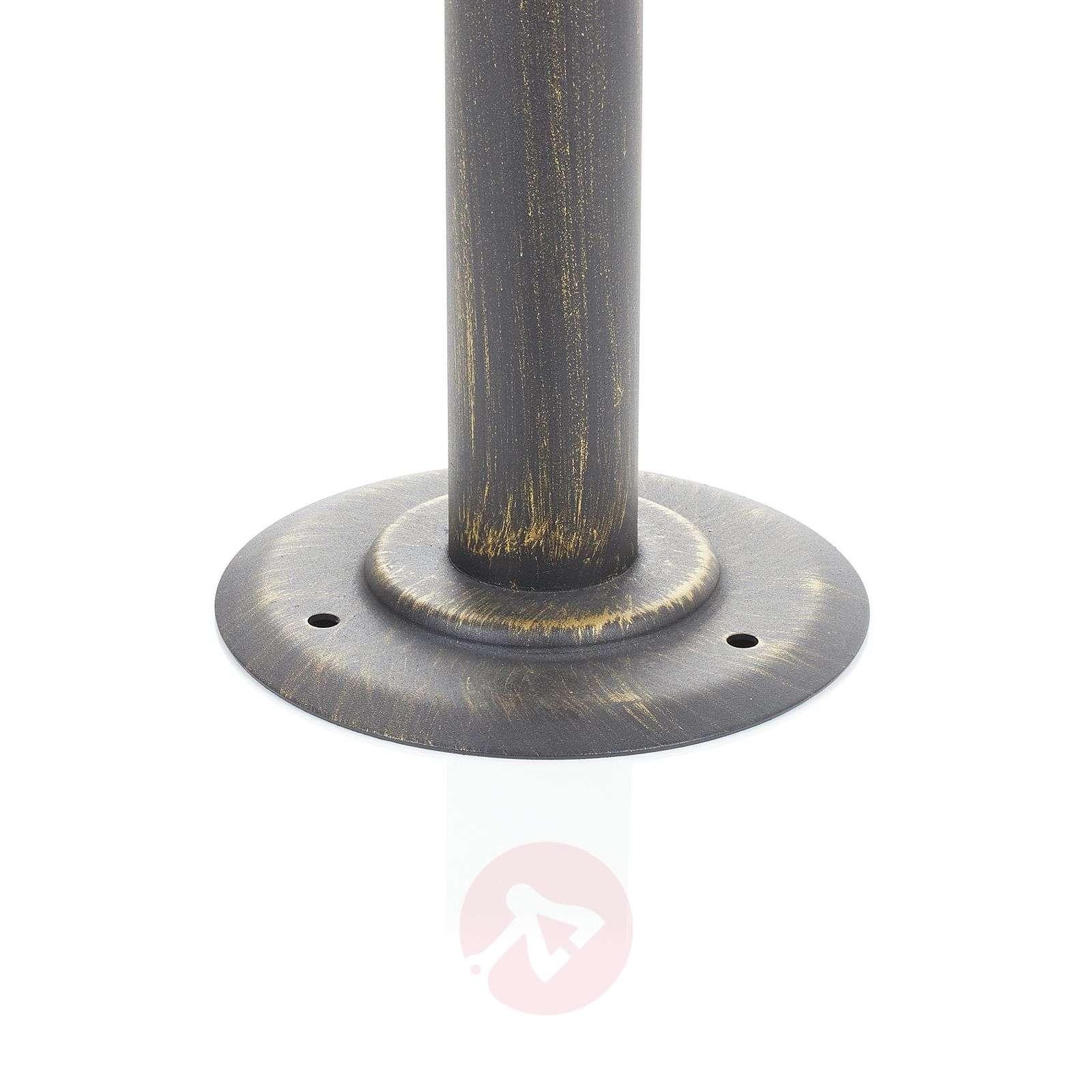 Kaksilamppuinen Artu-pylväsvalaisin, musta-kulta-1507156-012