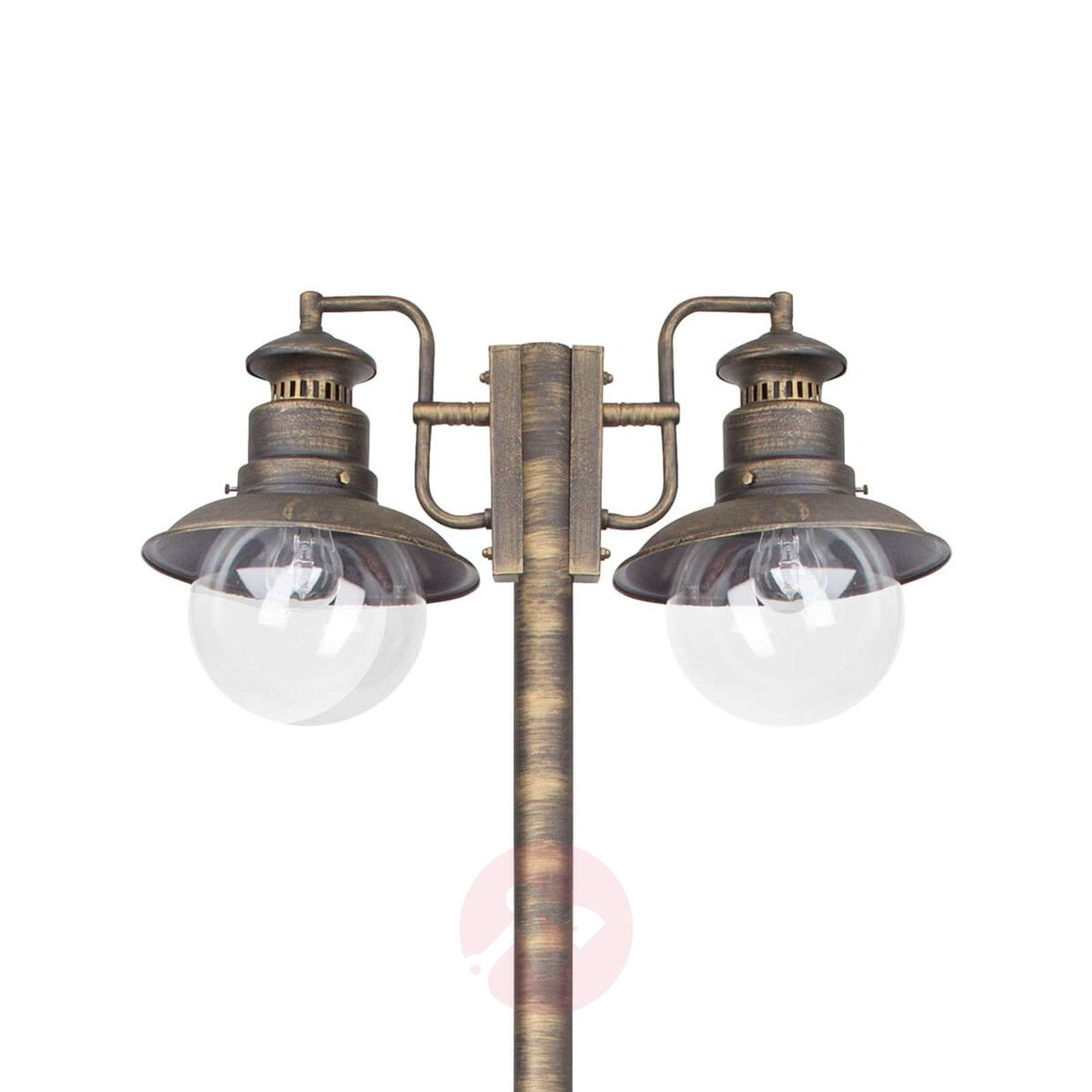 Kaksilamppuinen Artu-pylväsvalaisin, musta-kulta-1507156-01