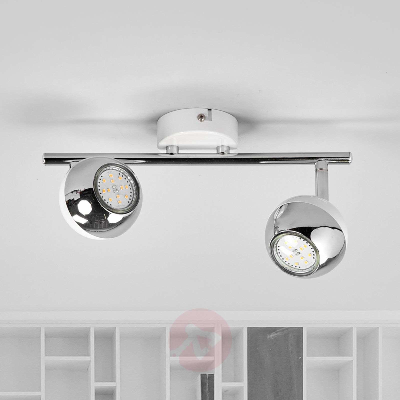 Kaksilamppuinen Arvin LED-valaisin, valkoinen-9970112-03