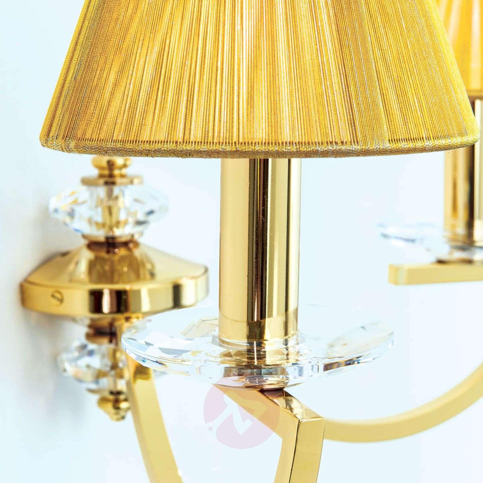 Kaksilamppuinen Avala-seinävalo, kultapinnoitus-7255246-01
