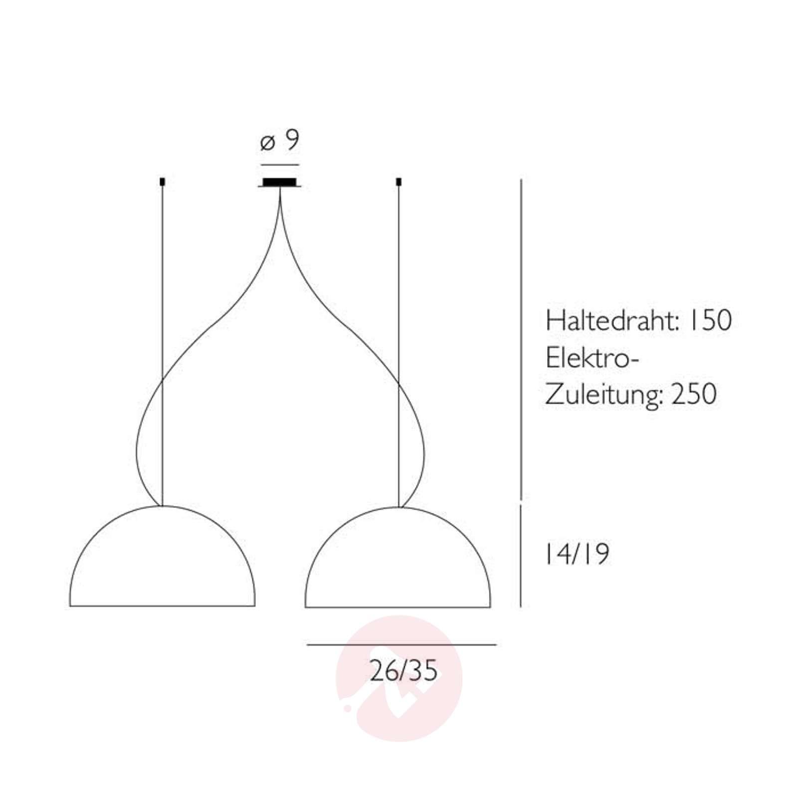 Kaksilamppuinen BOWL-riippuvalaisin-2000265X-01
