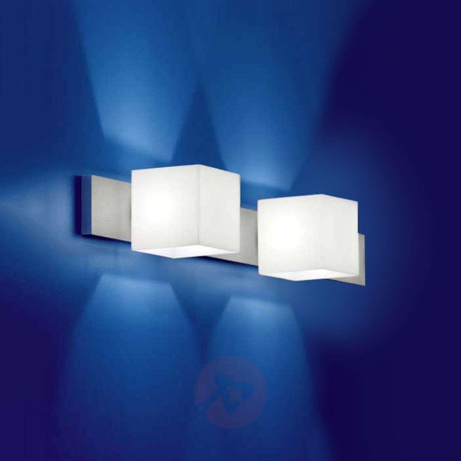 Kaksilamppuinen CUBE-seinävalaisin, häikäisysuoja-2000305-02