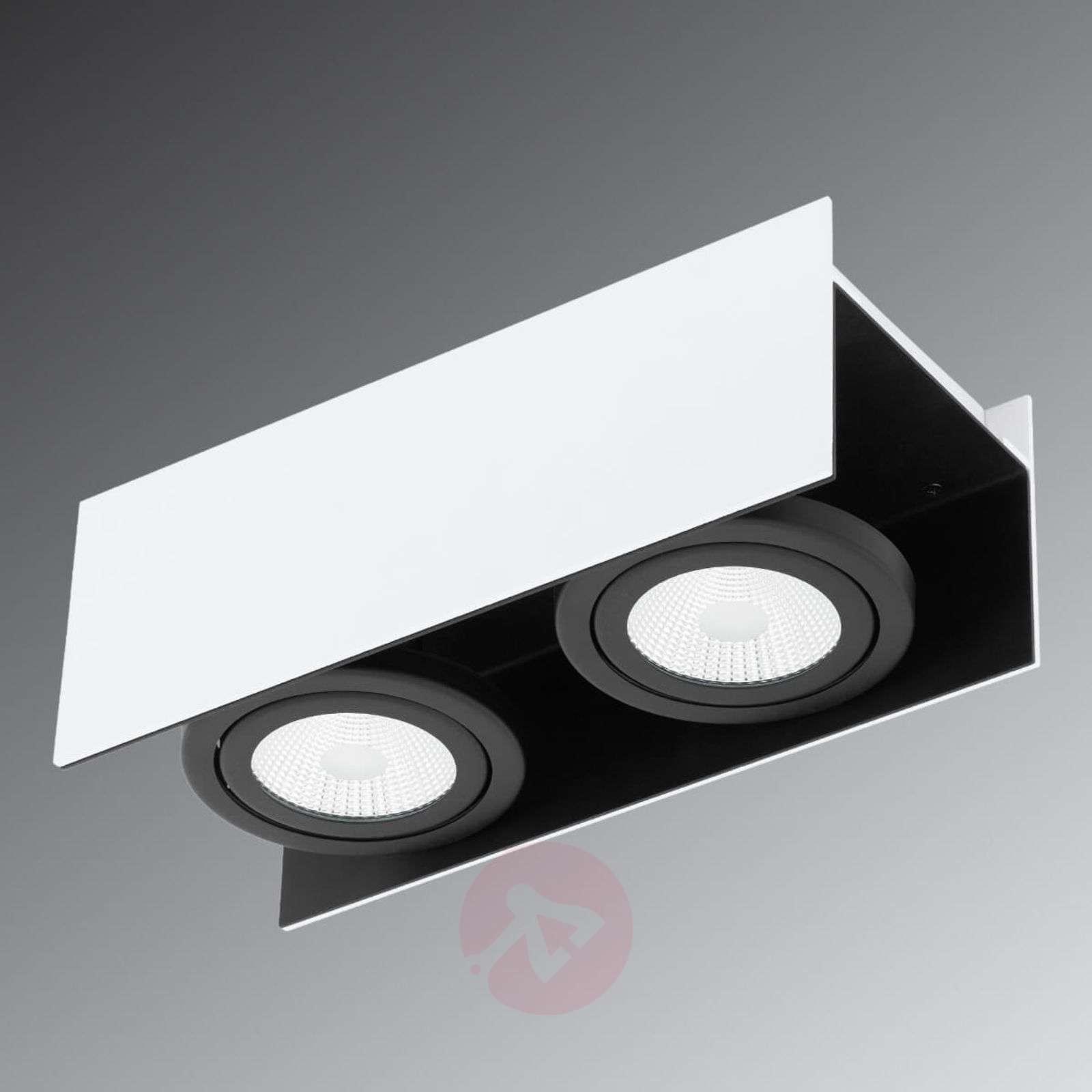 Kaksilamppuinen LED-kattokohdevalaisin Vidago-3032032-01
