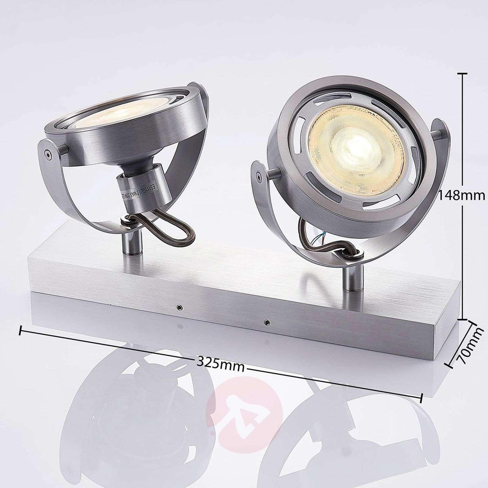 Kaksilamppuinen LED-kohdevalaisin Munin, alumiini-9621878-02