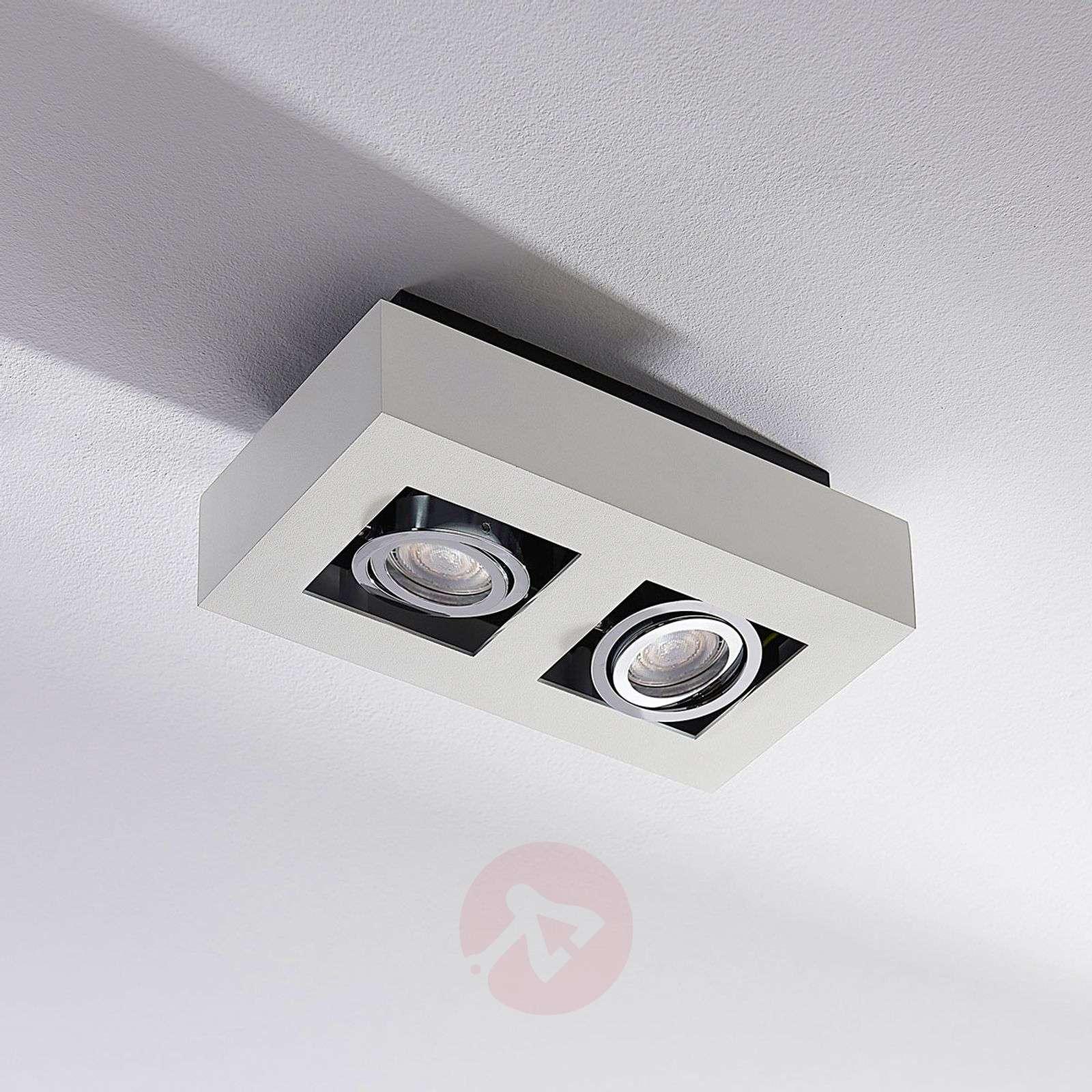 Kaksilamppuinen LED-spotti Vince valkoisena-9620457-01