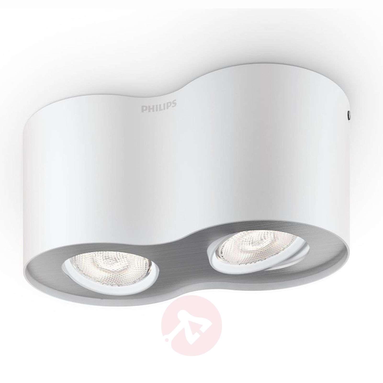 Kaksilamppuinen valkoinen LED-spottivalo Phase-7531744-01
