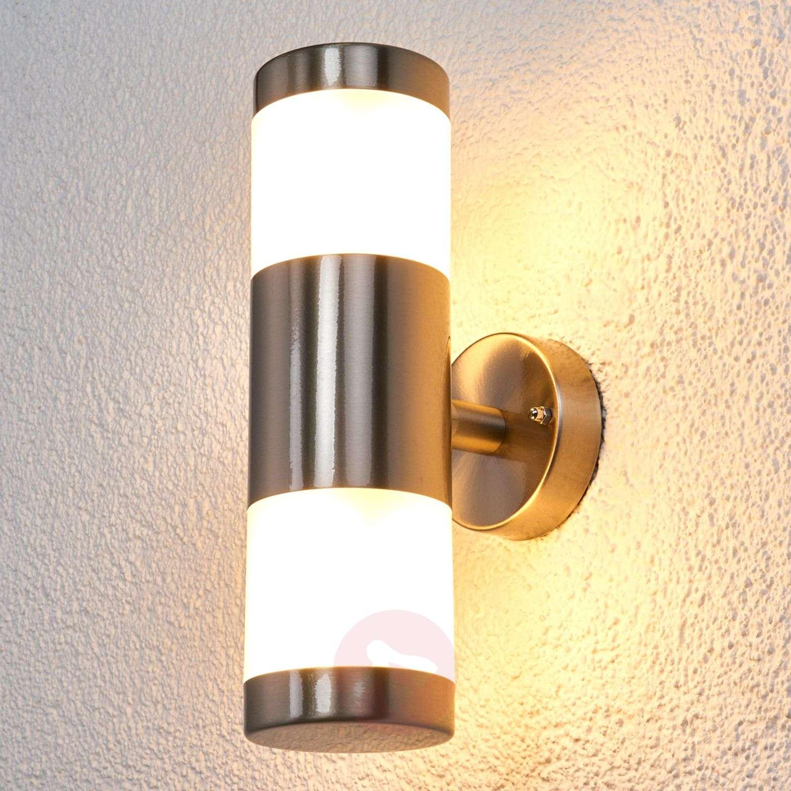 Kaksipuol. LED-seinävalaisin, ruostum., ulkokäyttö-9988065-09