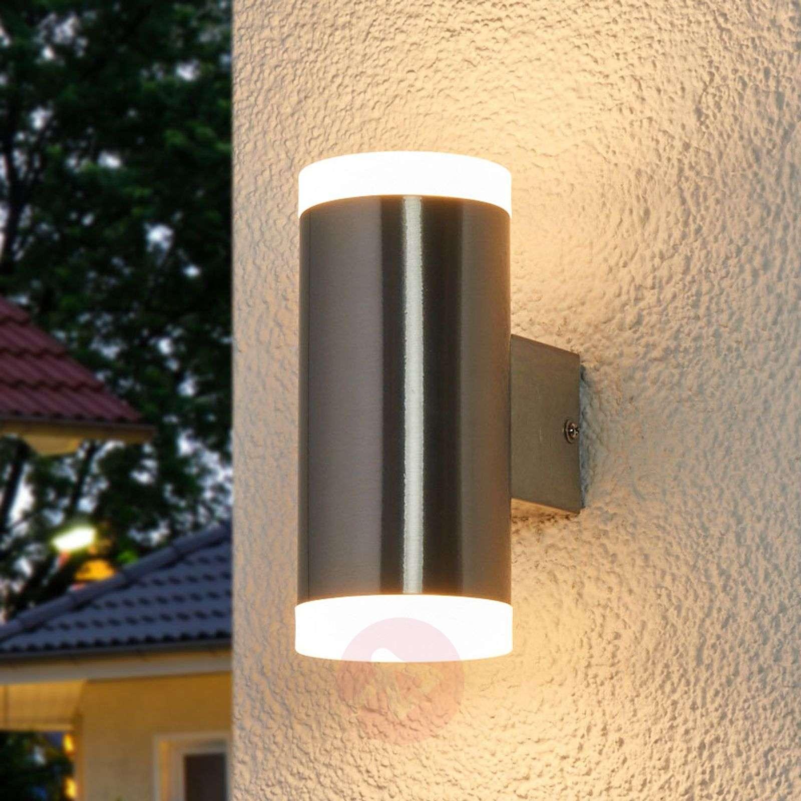 Kaksipuol. LED-ulkoseinävalaisin Eliano, ruostum.-9988089-03