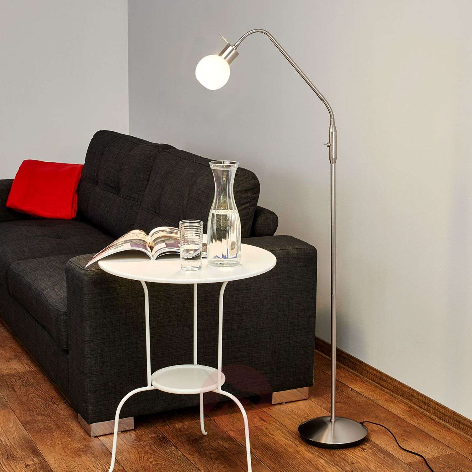 Kapea Elaina LED-lattiavalaisin, matta nikkeli-9620011-03