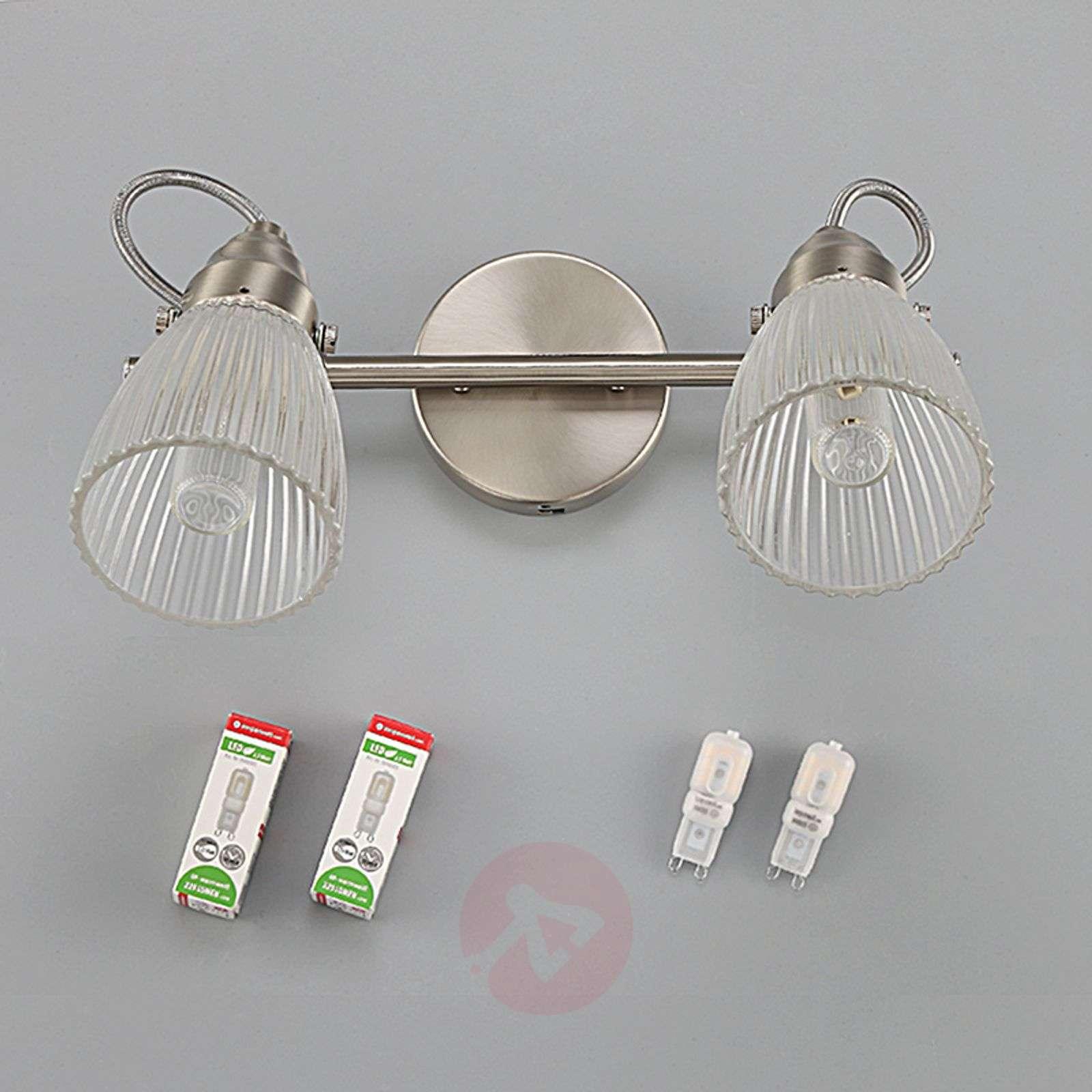Kara kylpyhuoneen seinävalaisin uurrelasi ja LED-9620682-011
