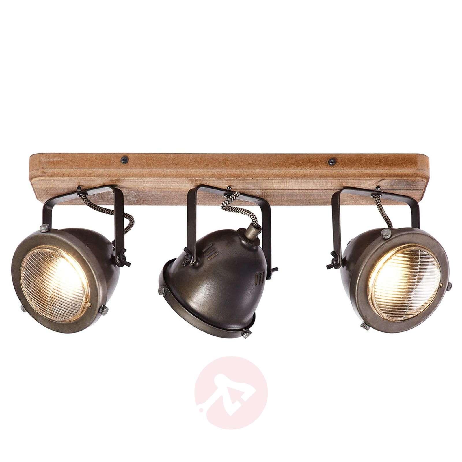 Kattolamppu Carmen Wood industrial-tyyli 3 lamppua-1509428-01