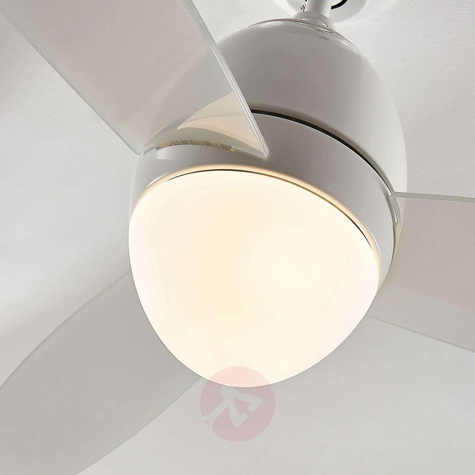 Kattotuuletin Piara, valaistu, kiiltävä valkoinen-4018206-03