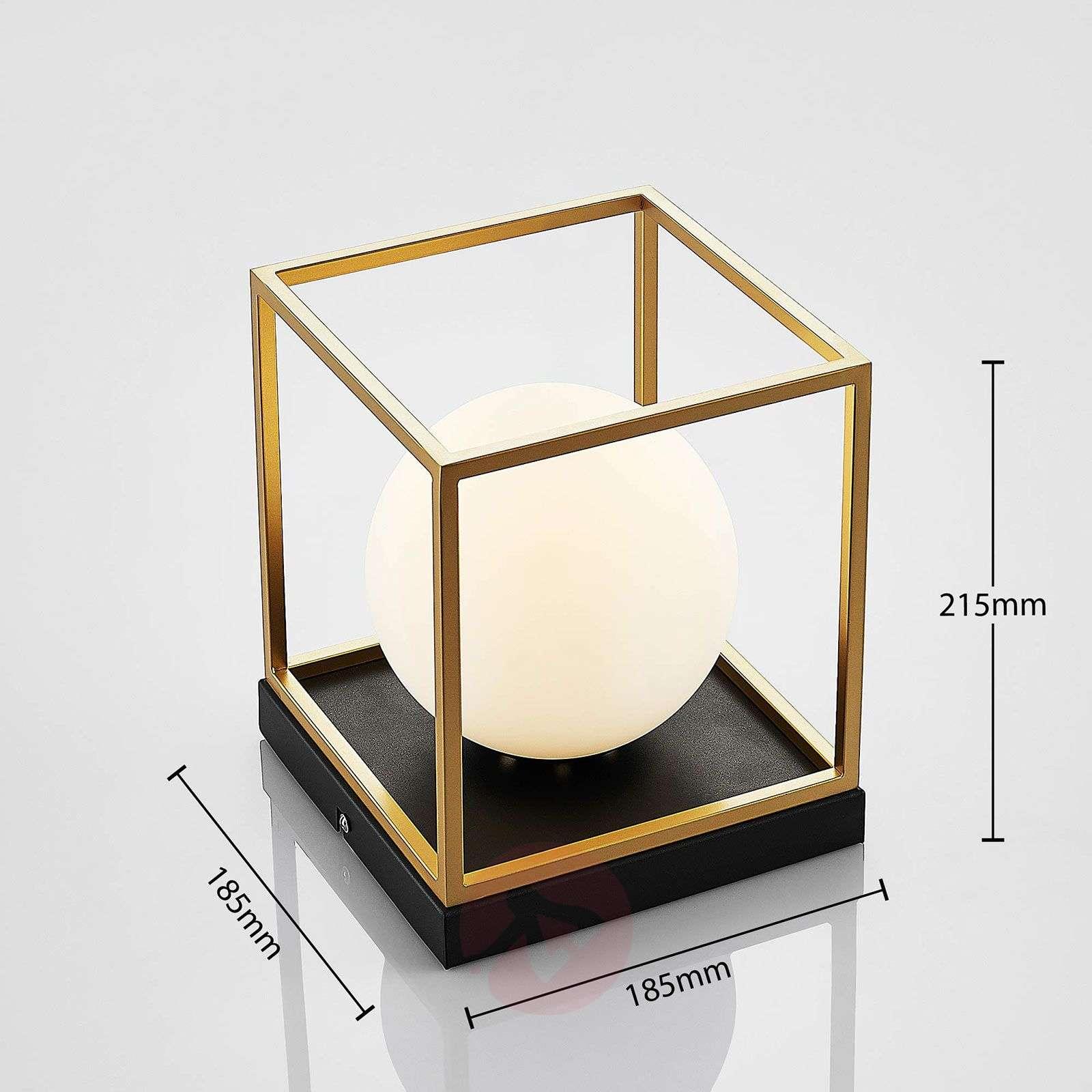 Kattovalaisin Aloam, valkoinen lasipallo, 1-lampp.-9624442-03