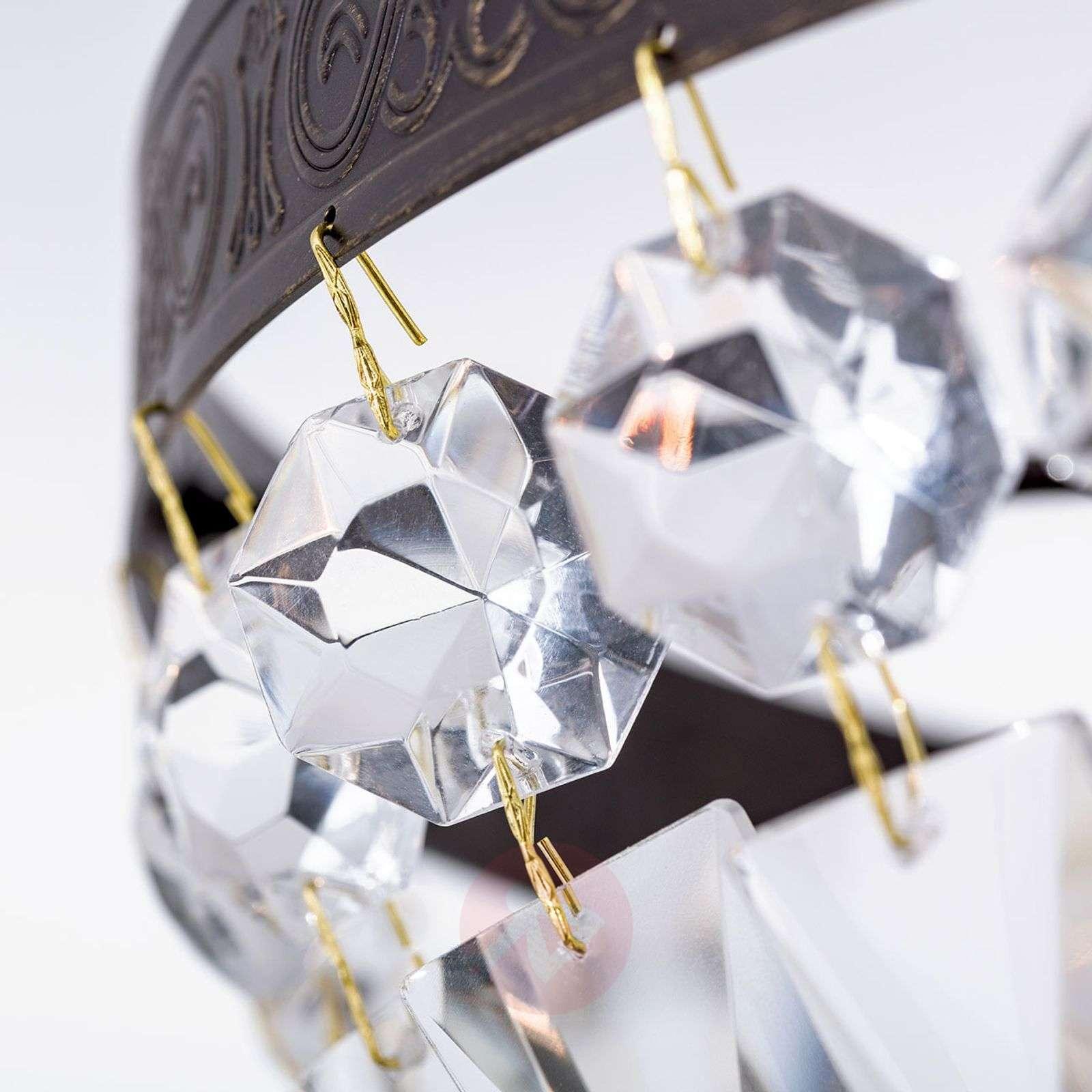 Kattovalaisin Andara, kristalliketjut, Ø 40cm-7253748-02