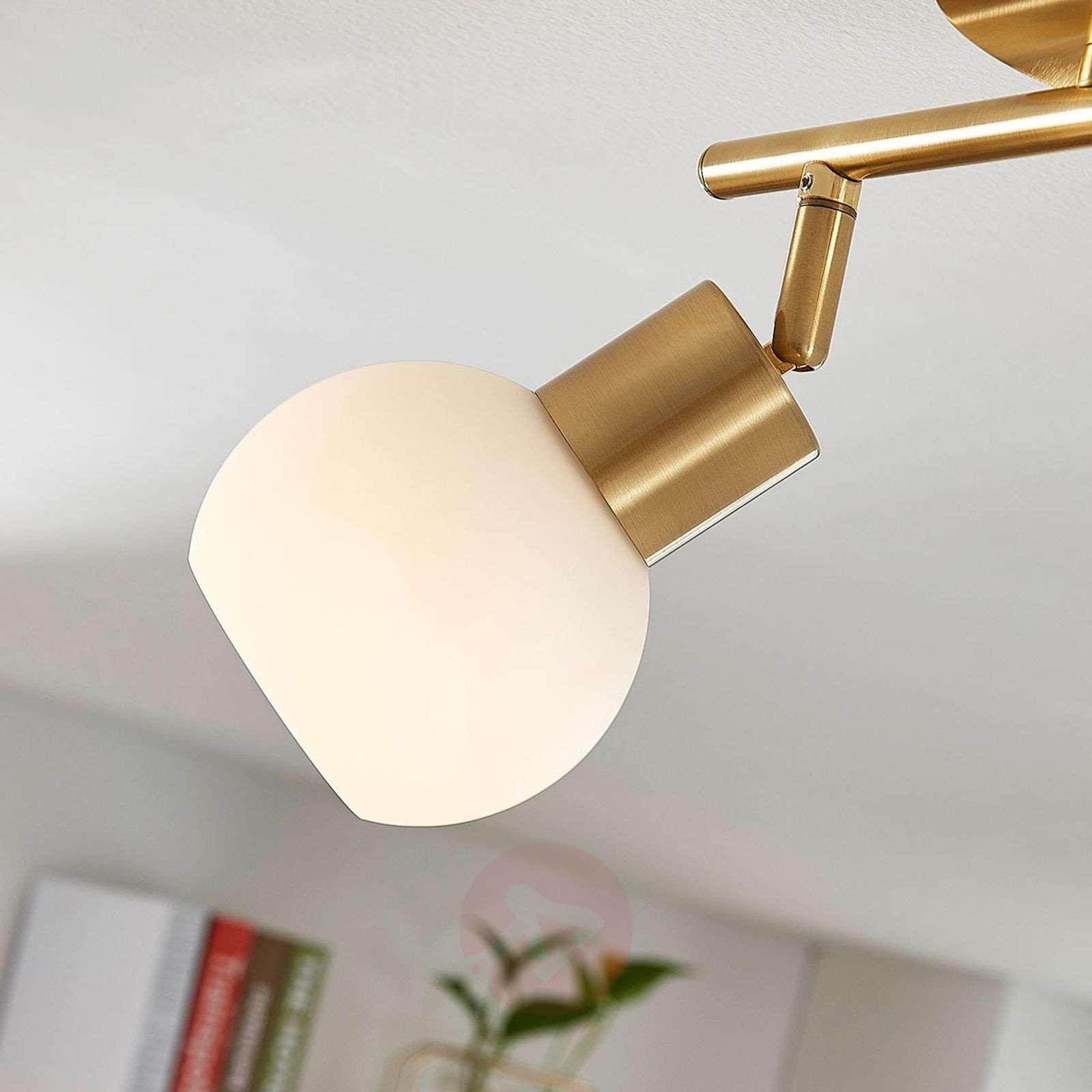 Kattovalaisin Elaina E14-LED-lampuilla, messinkiä-9620021-01