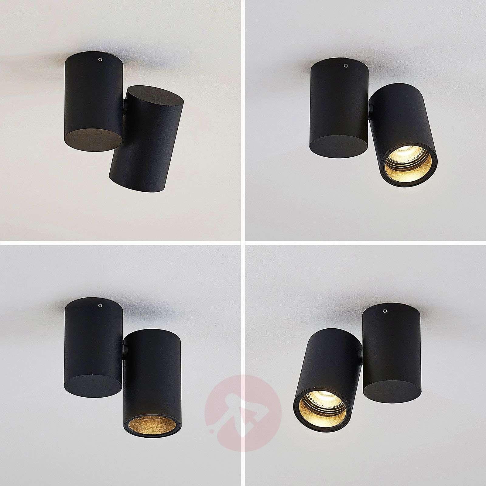 Kattovalaisin Gesina, 1-lamppuinen, musta-9624483-02