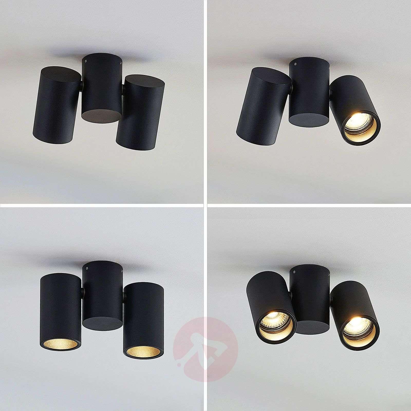 Kattovalaisin Gesina, 2-lamppuinen, musta-9624486-02