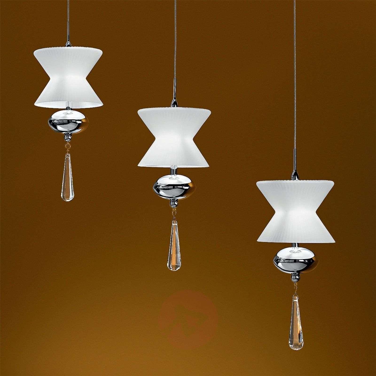 Kauniin muotoinen MIEKE riippuvalaisin, 3-lampp.-7254230-01