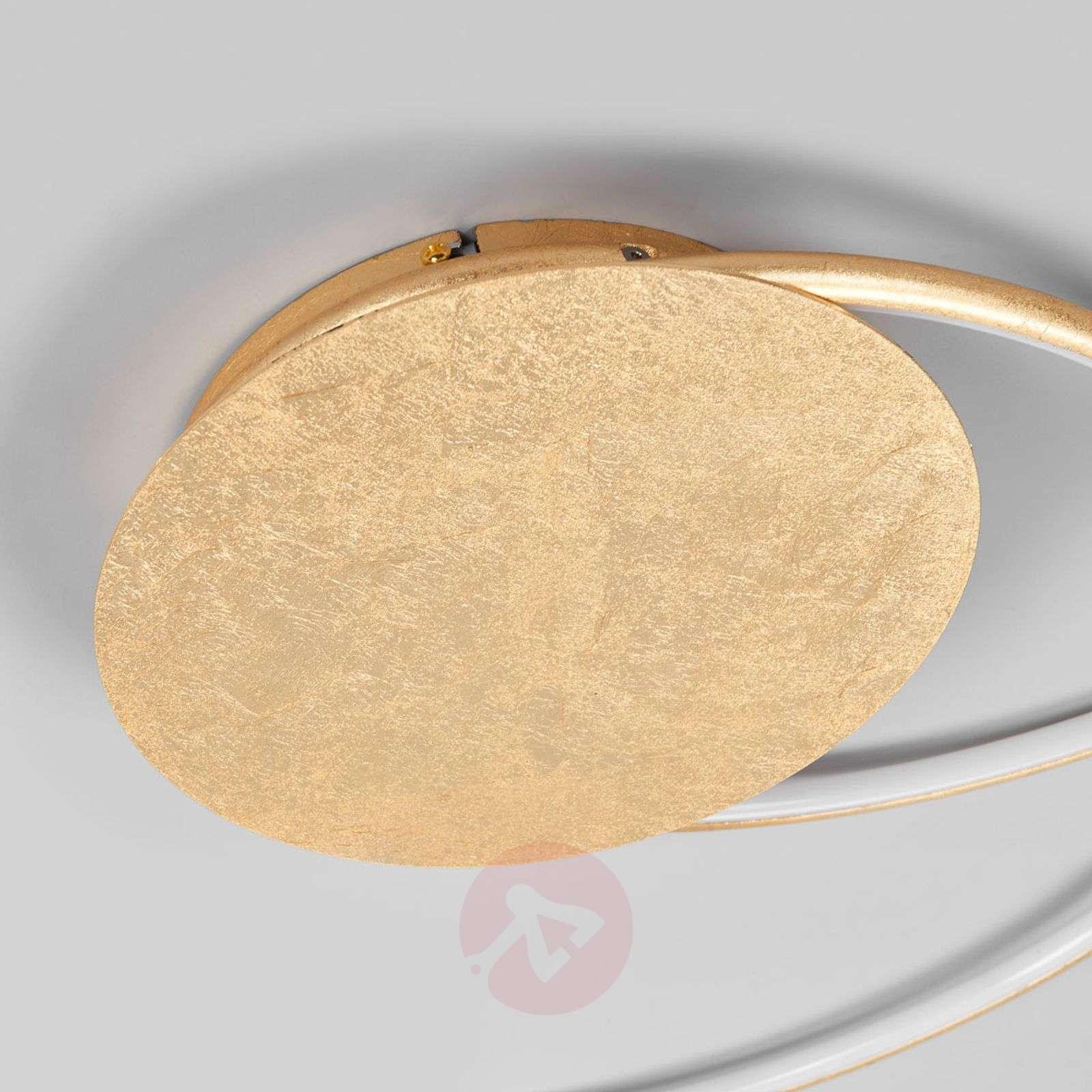 Kauniinmuotoinen LED-kattolamppu Joline, kulta-9639049-01