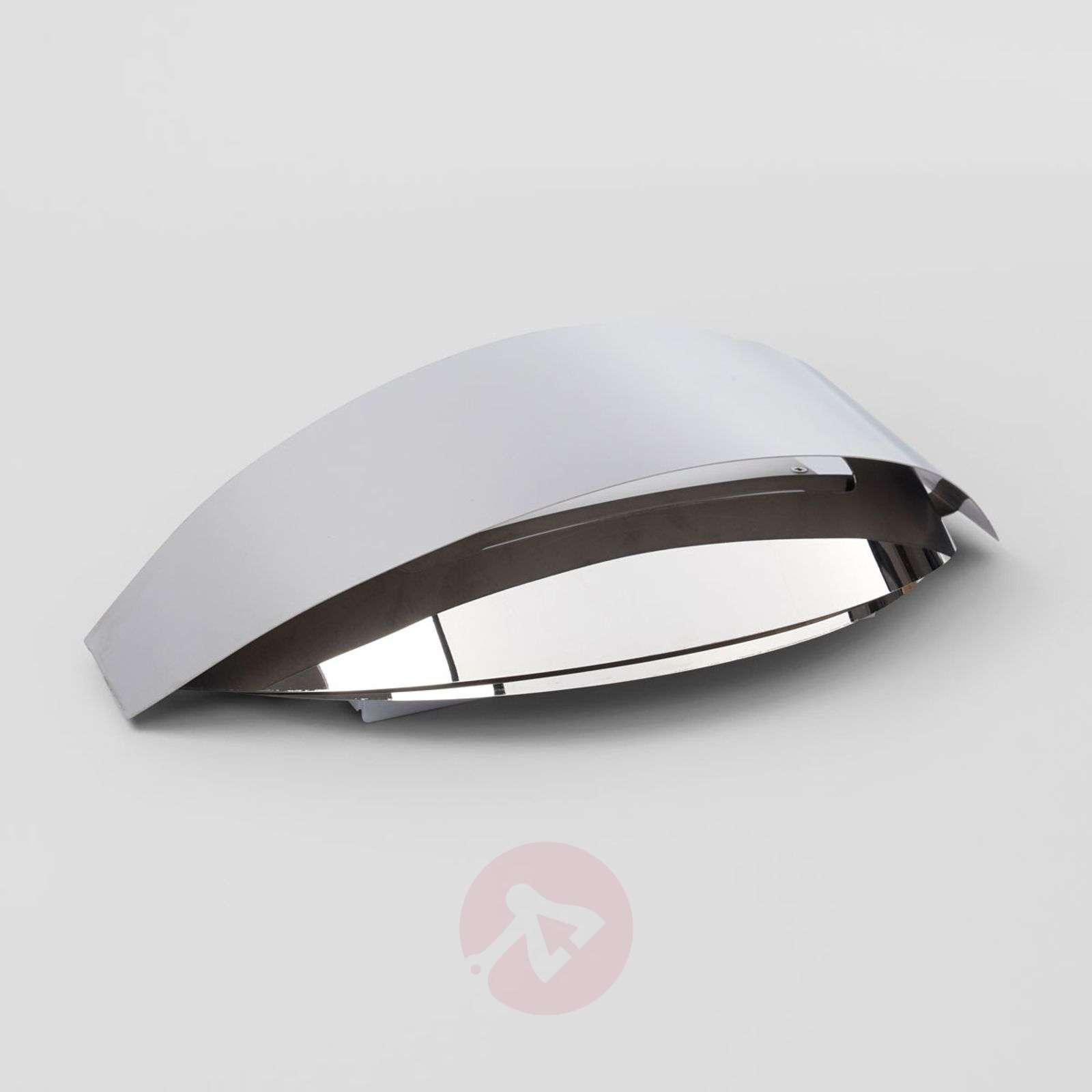 Kauniinmuotoinen LED-seinävalaisin Hailey, kromia-9633031-01