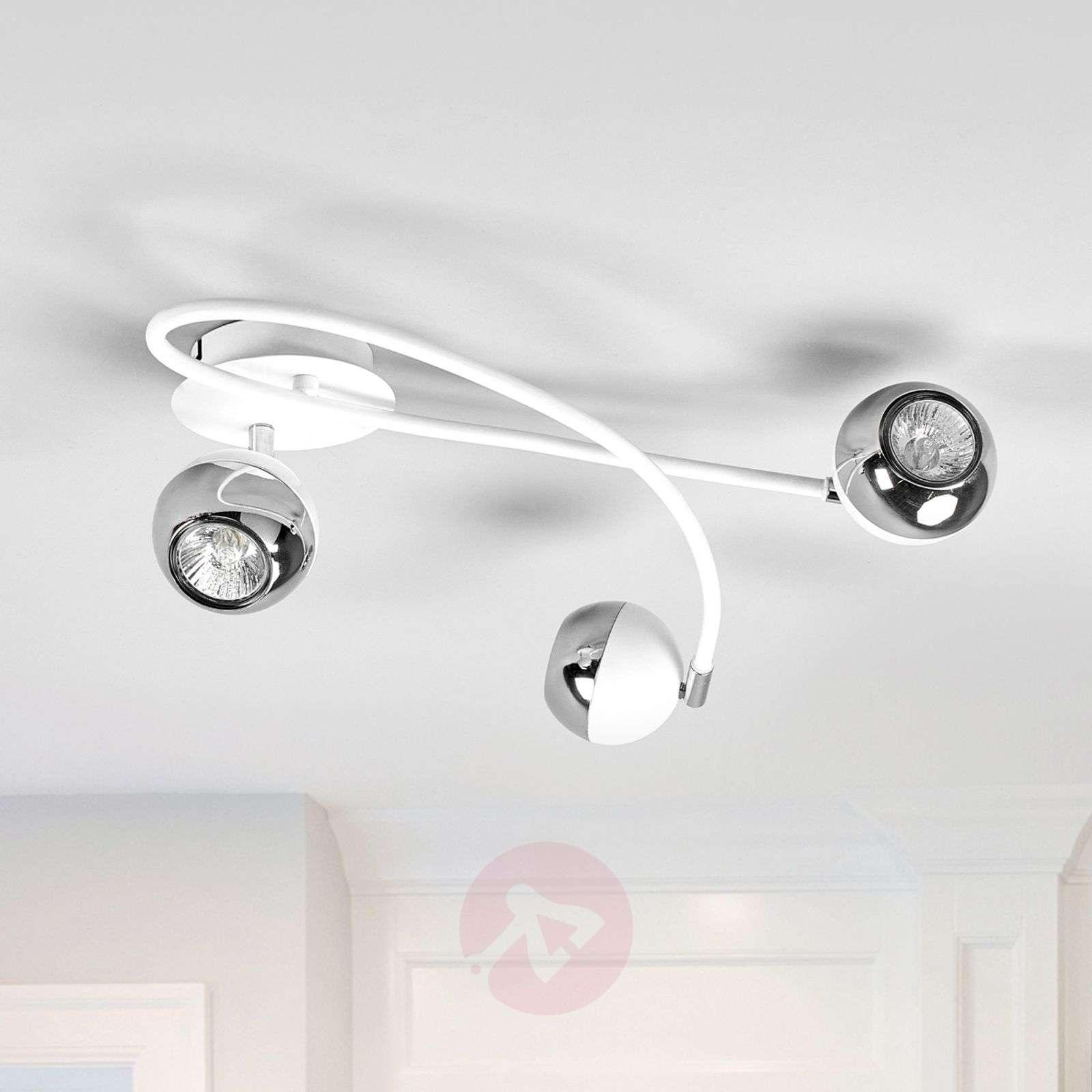 Kaunis Arvin LED-kattovalaisin, valkoinen-9970118-01