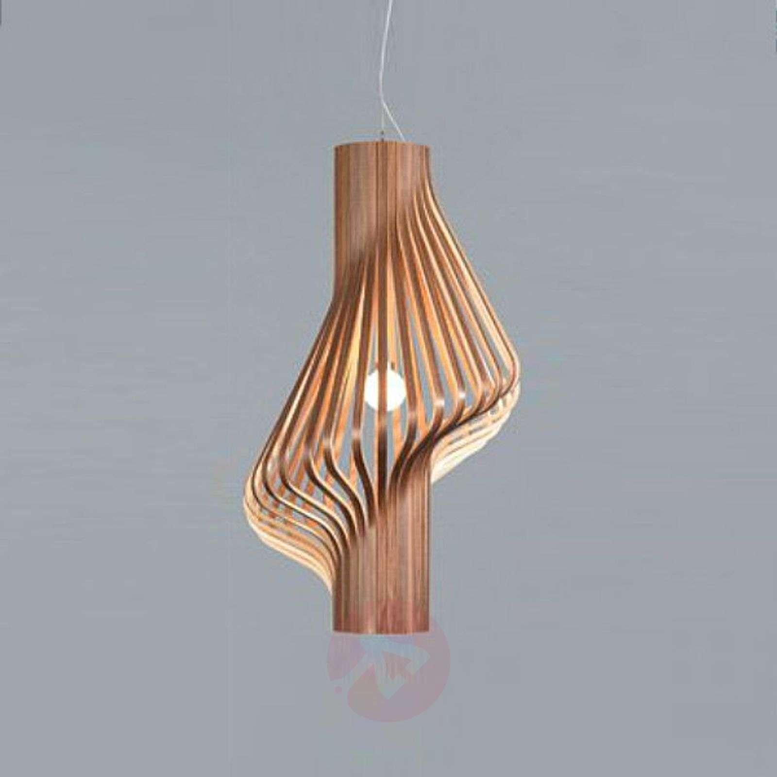Kaunis design-riippuvalaisin Diva pähkinäpuu-7013076-01