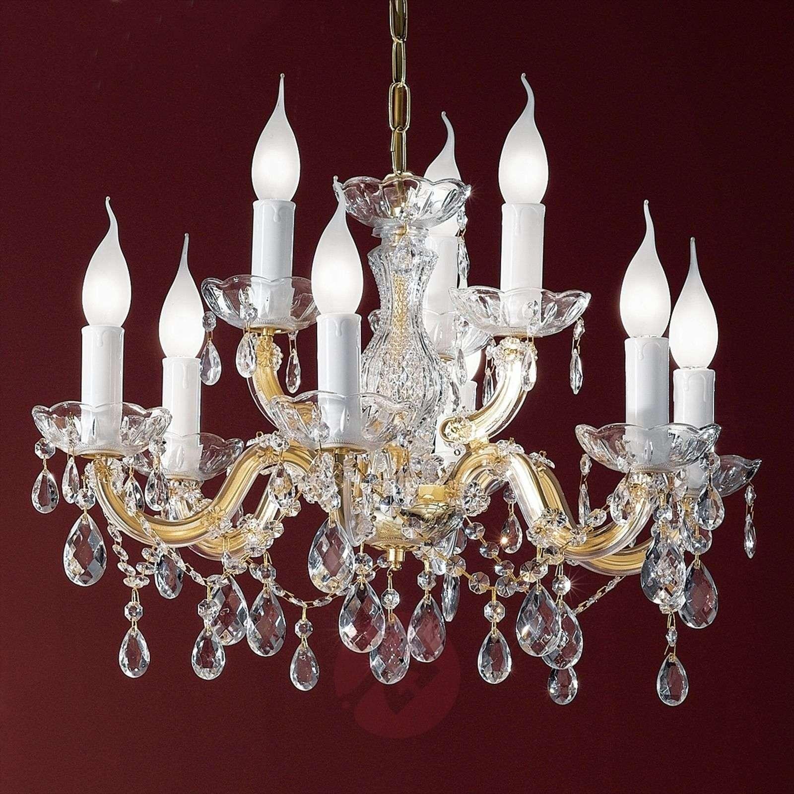 Kaunis kattokruunu DOLORES kristalleilla-7253347-01