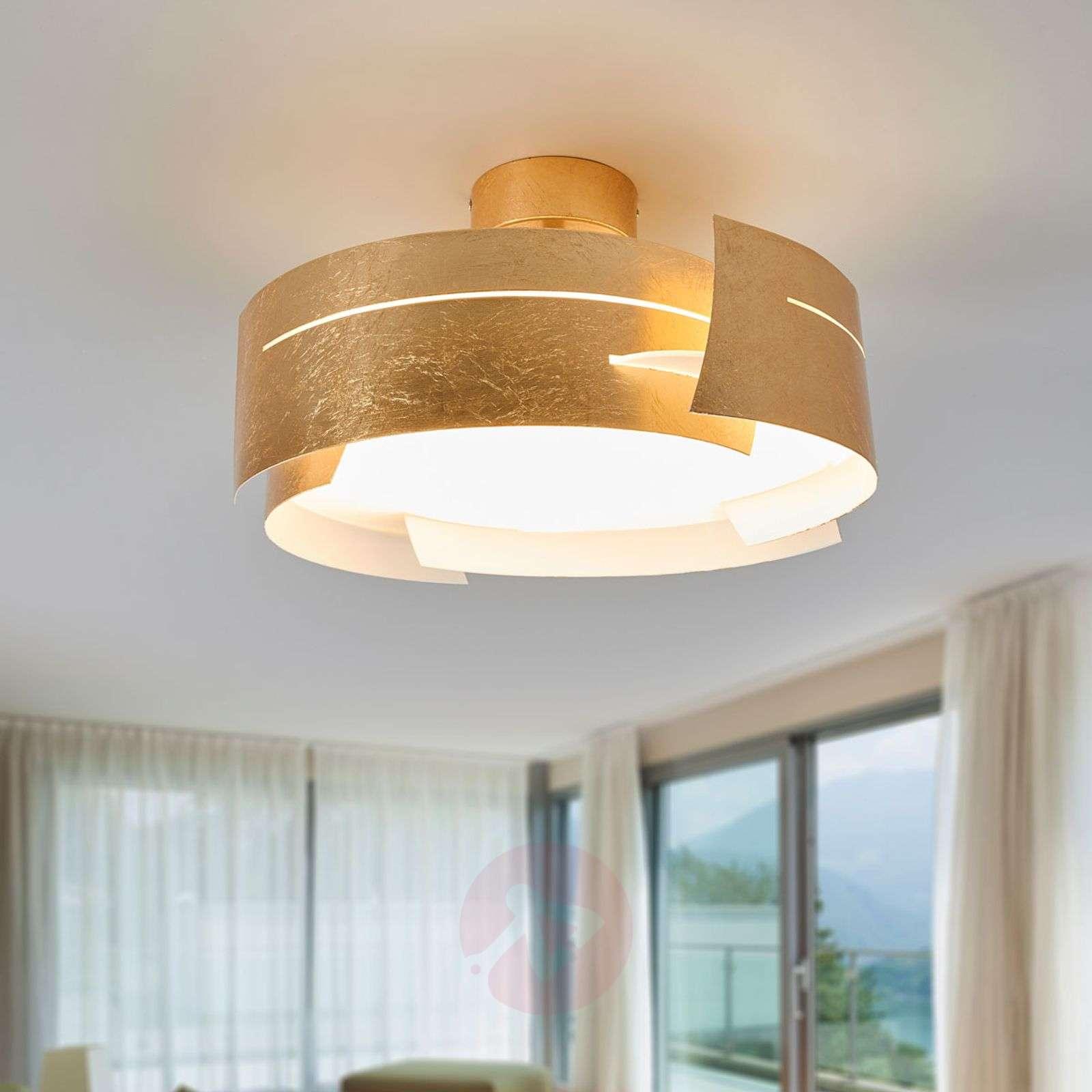 Kaunis Keyron LED-kattovalaisin, matta kulta-9625119-01