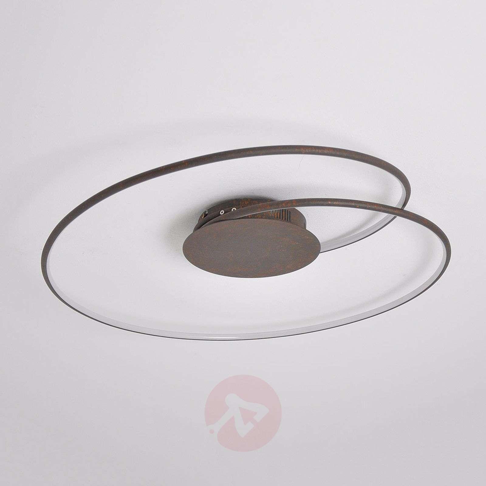 Kaunis LED-kattovalaisin Joline, ruosteenruskea-9639048-02